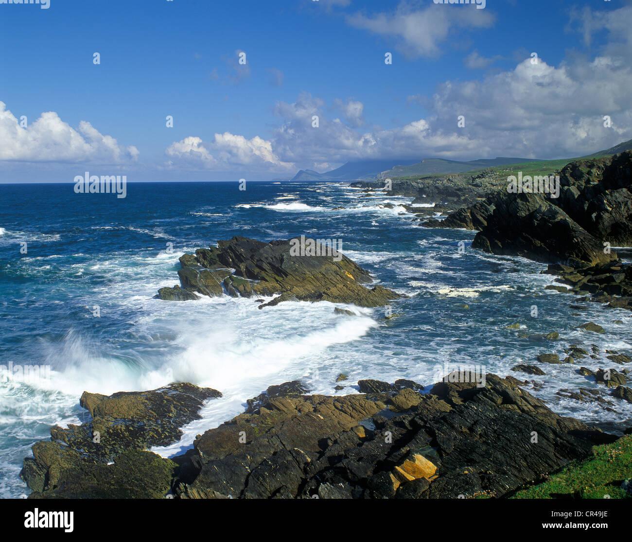 Coast, Slieve More, Atlantic Drive, County Mayo, Republic of Ireland, Europe Stock Photo