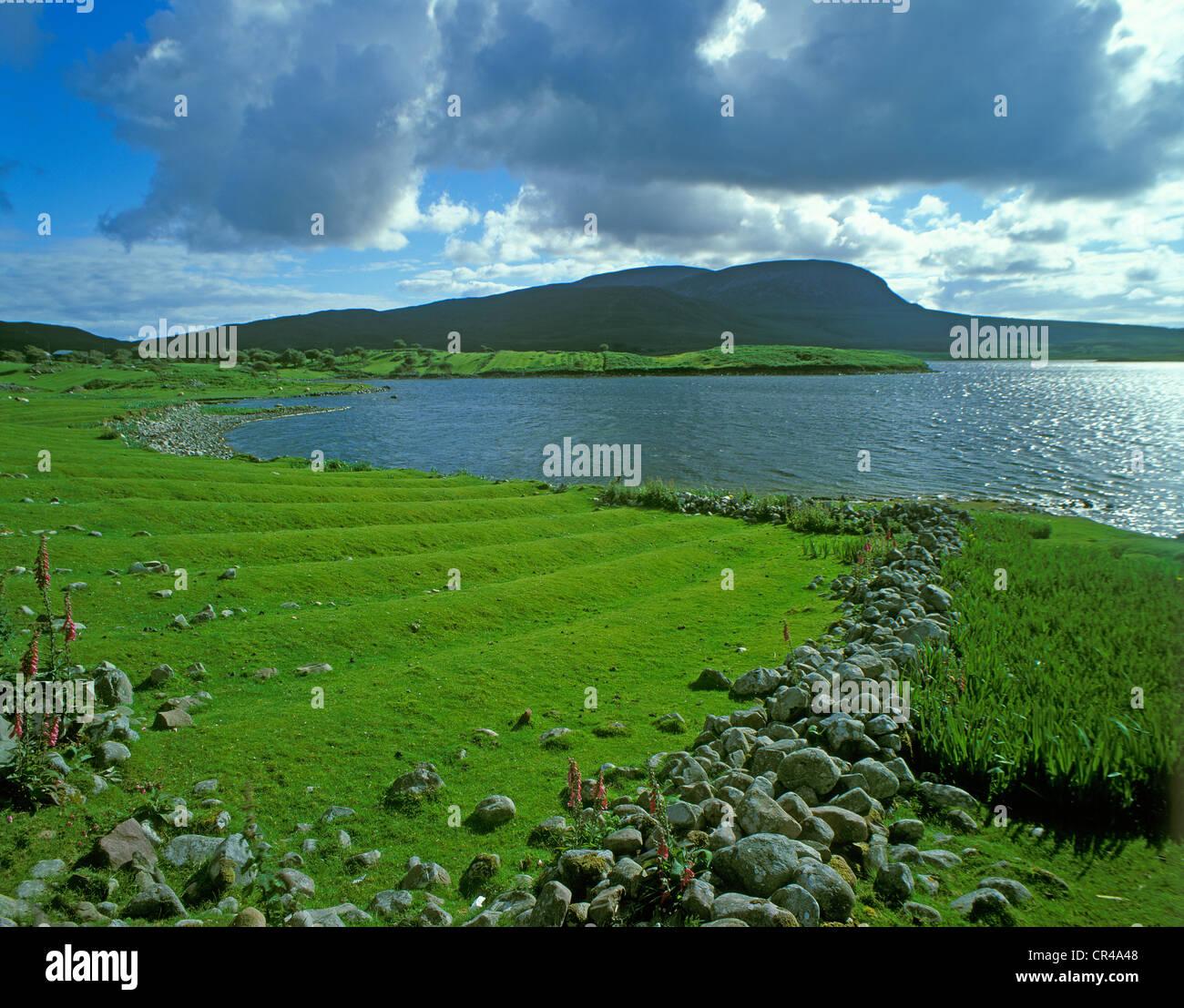 Corraun Peninsula, Sound Achill, County Mayo, Republic of Ireland, Europe - Stock Image