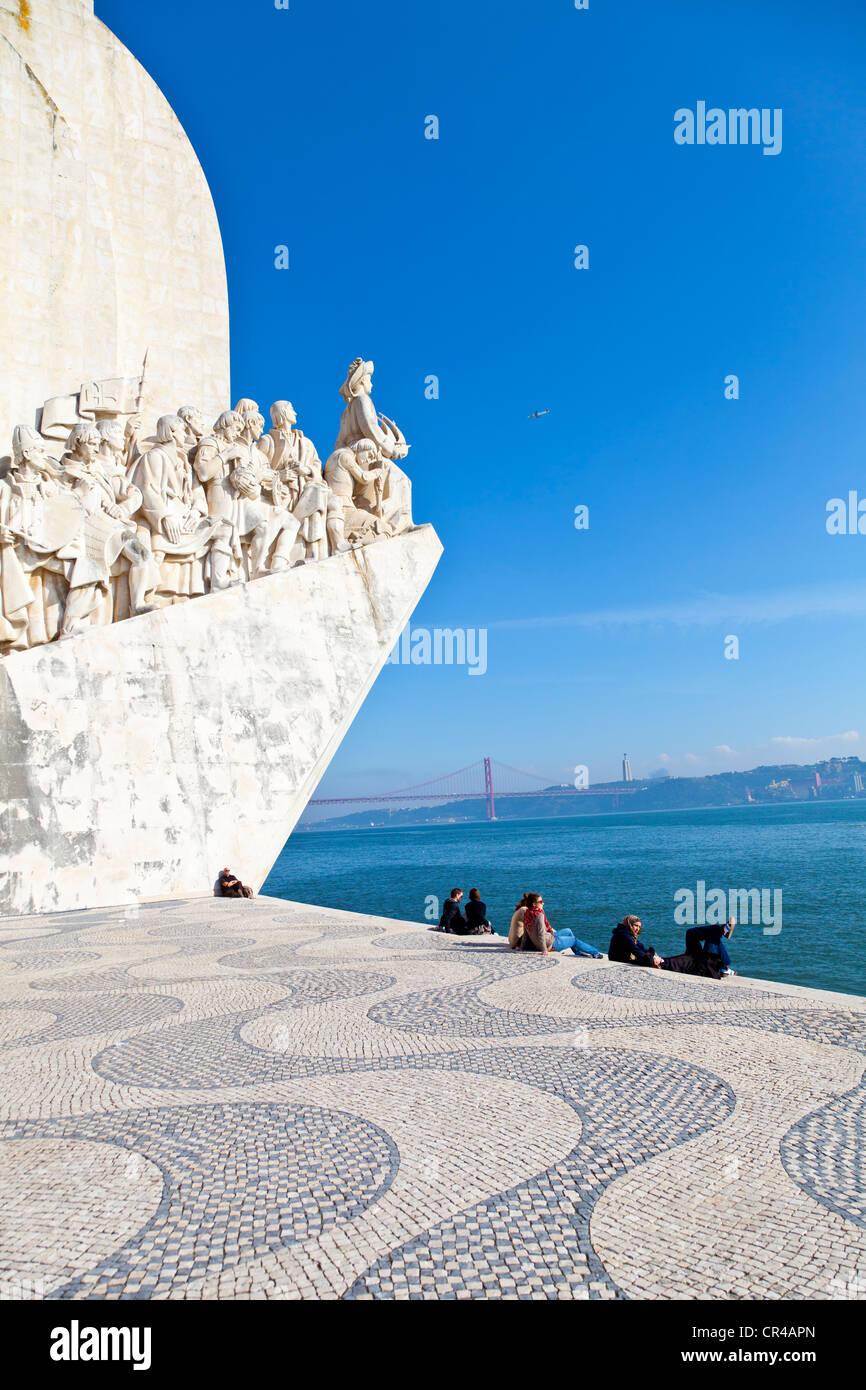 Padrão dos Descobrimentos, Monument to the Discoveries, celebrating Henri the Navigator and the Portuguese - Stock Image