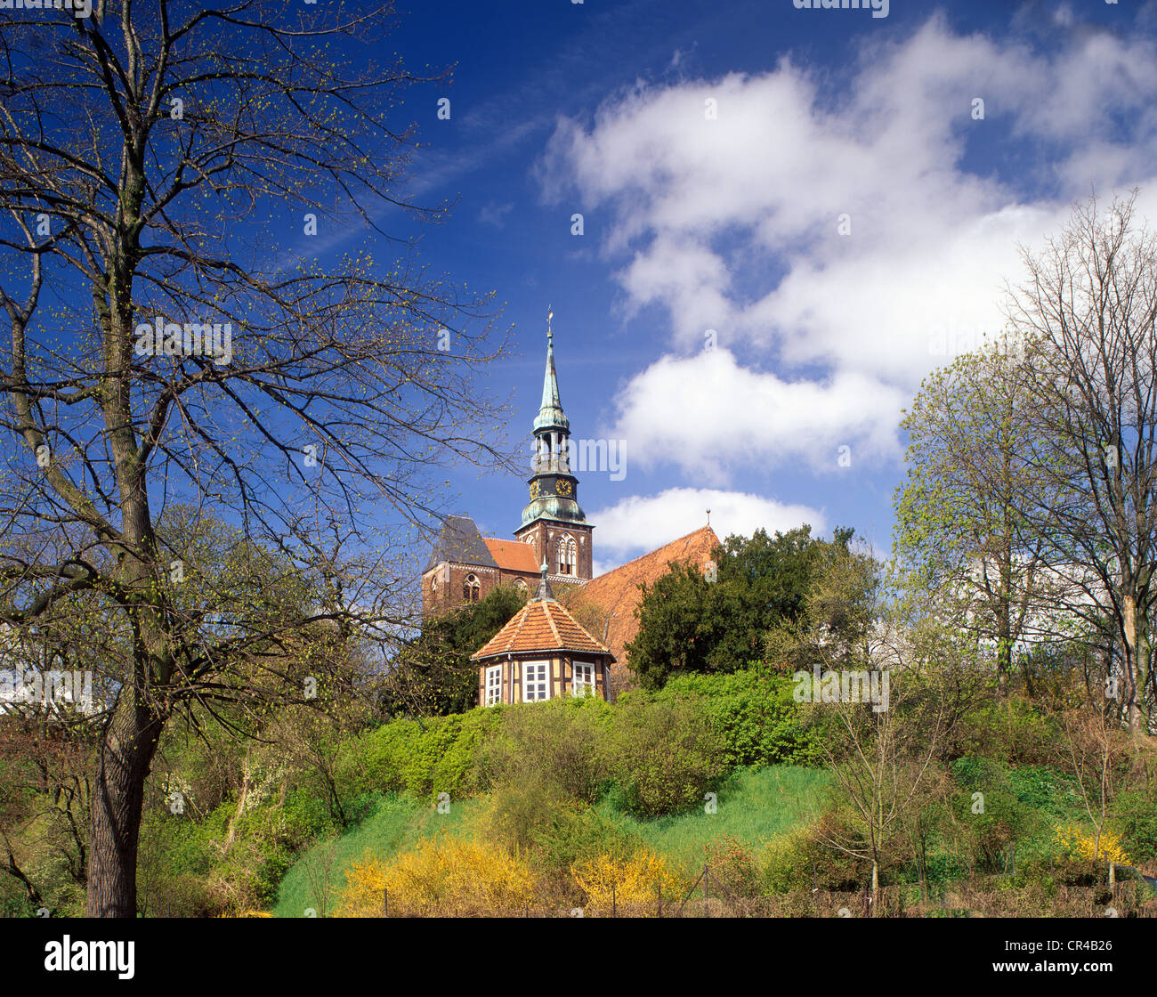 St. Stephen's Church, Tangermuende, Saxony-Anhalt, Germany, Europe Stock Photo
