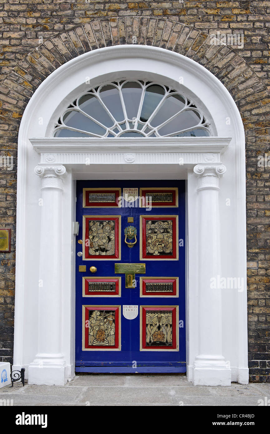 Colourful front door of a terraced house near Merrion Park Dublin Republic of Ireland & Colourful Doors Ireland Stock Photos u0026 Colourful Doors Ireland Stock ...