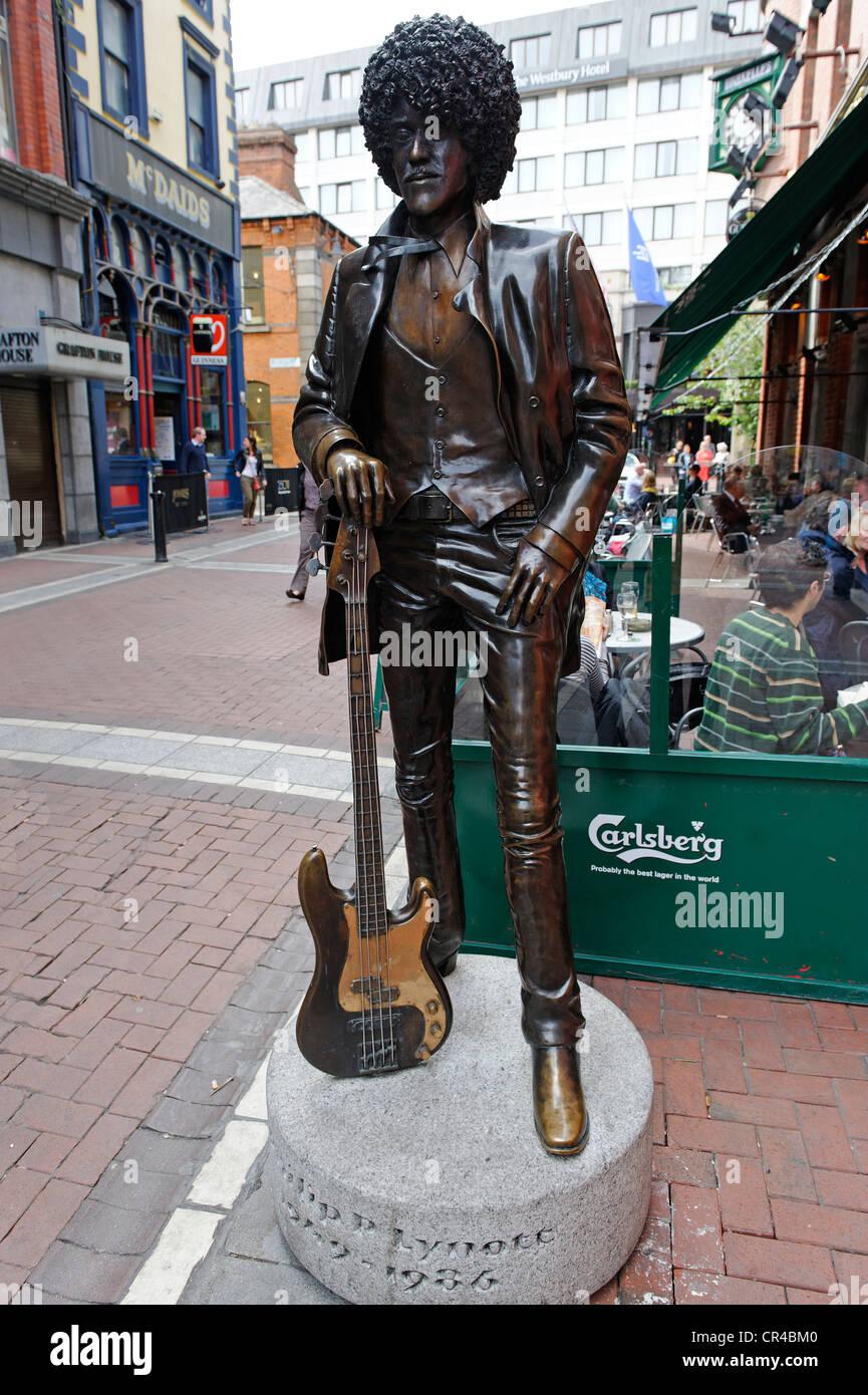 Phil Lynott, 1949 - 1986, Irish rock musican, Harry Street, Dublin, Republic of Ireland, Europe - Stock Image