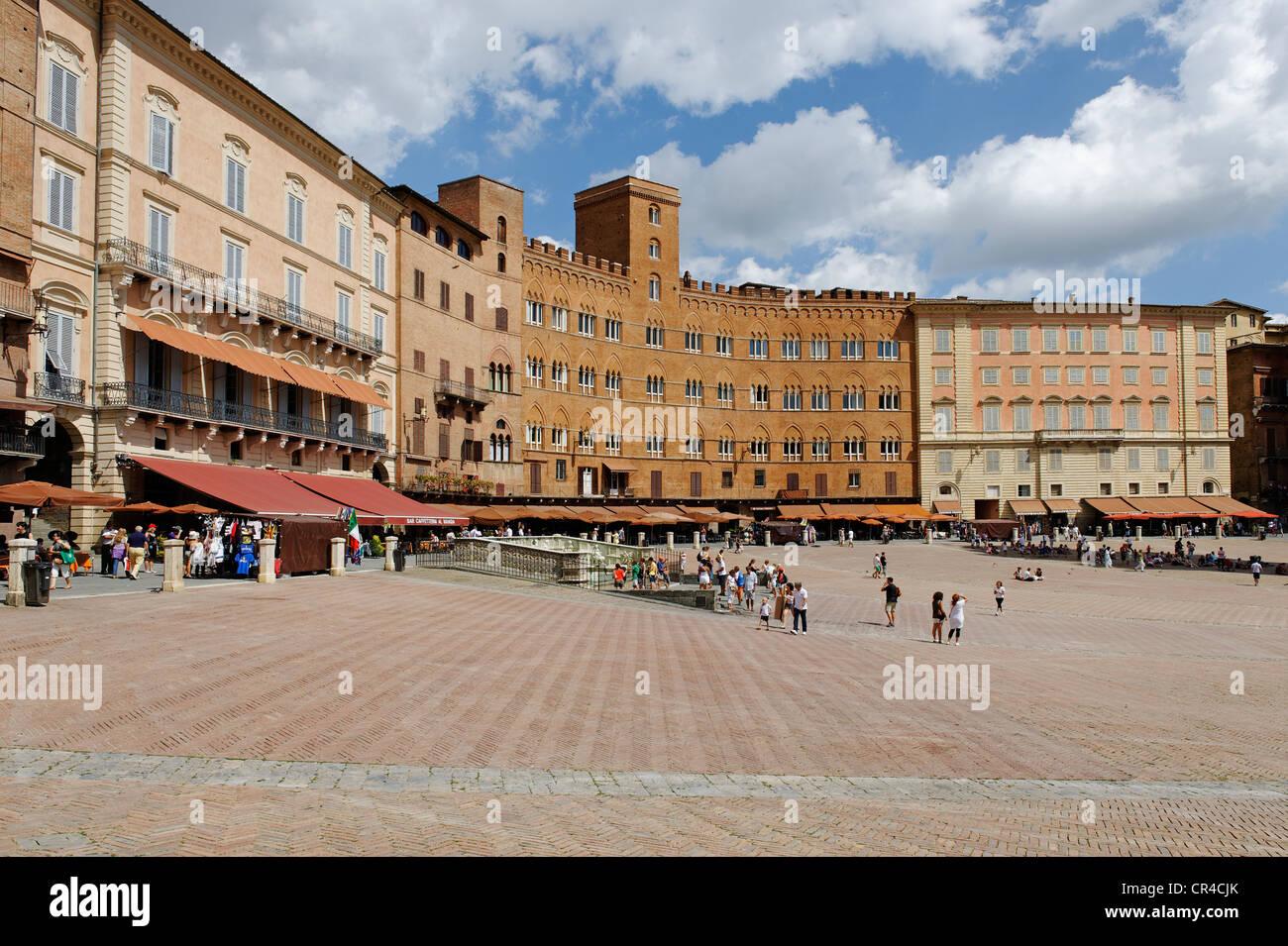 Piazza del Campo, Siena, Tuscany, Italy, Europe - Stock Image