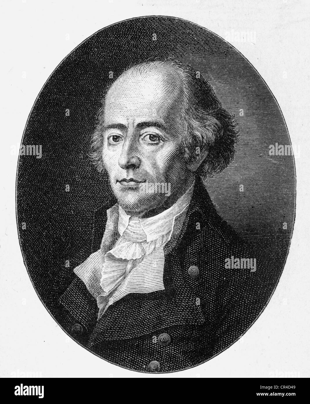 Johann Heinrich Jung, known as genannt Jung-Stilling, (1740 -1817), oculist and writer, steel engraving, before - Stock Image