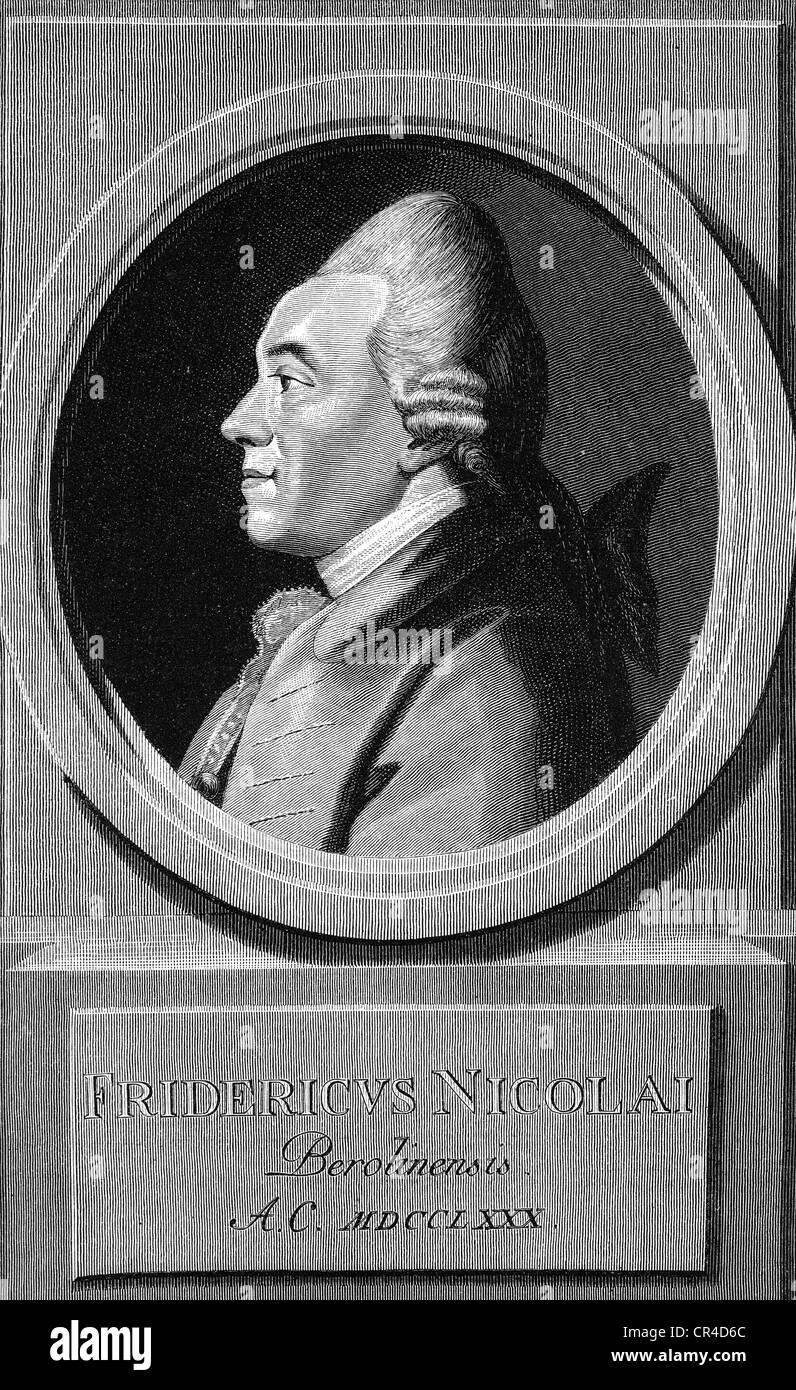 Friedrich Nicolai (1733-1811), writer, bookseller - Stock Image