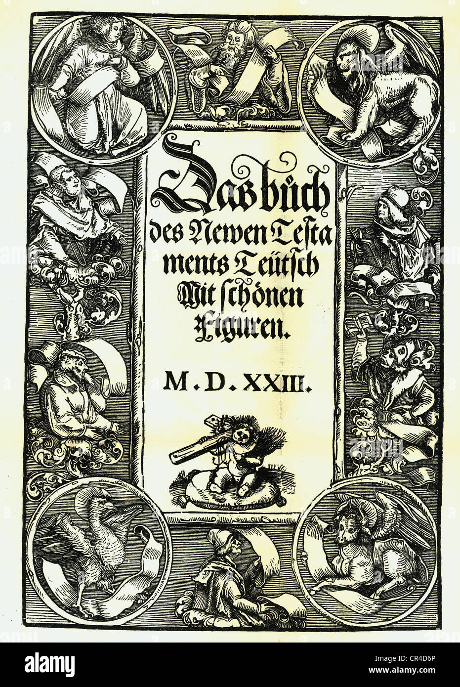 Martin Luther New Testament from 1523, title page