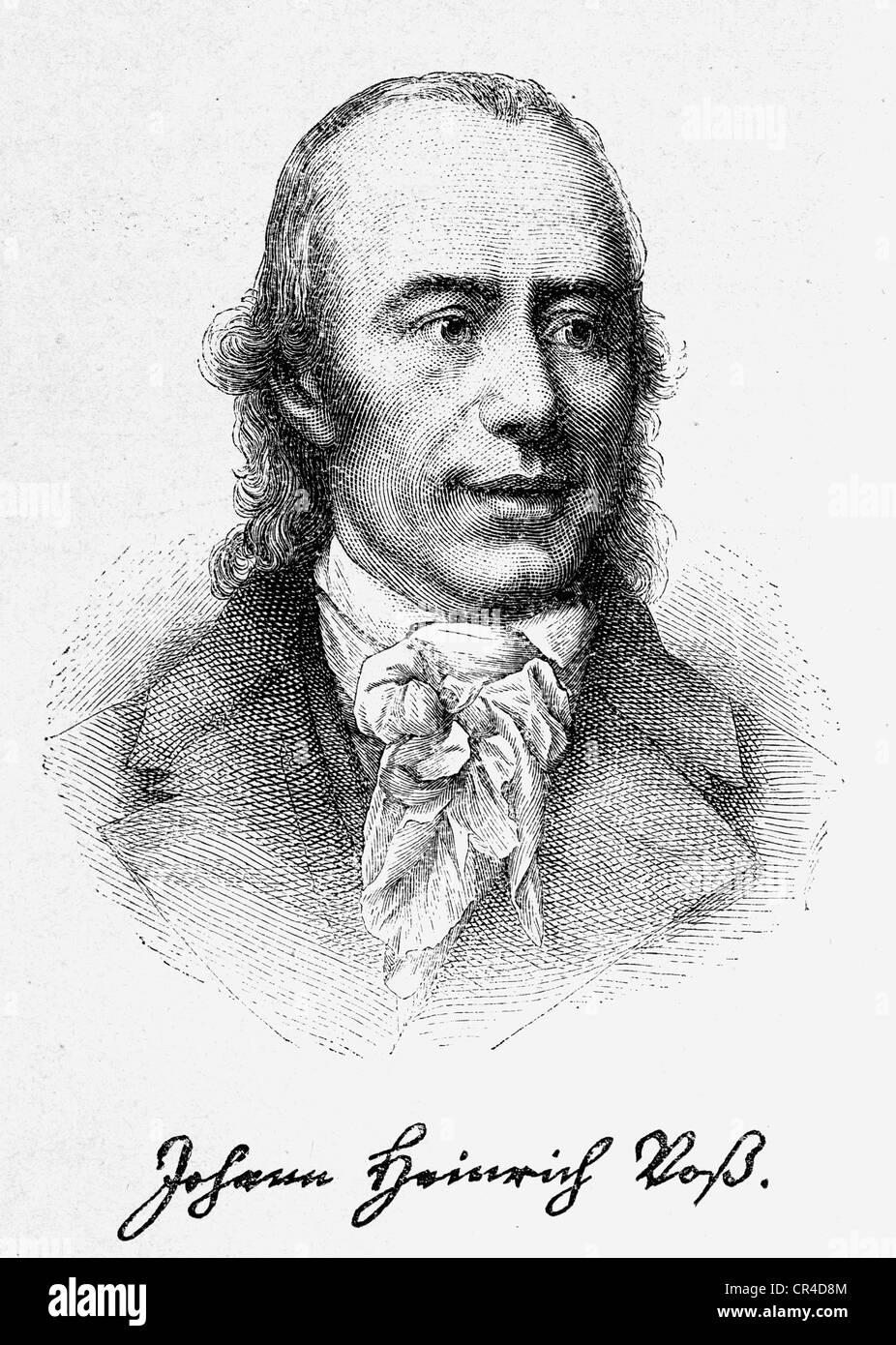 Johann Heinrich Voss (1750-1826), poet, translator - Stock Image