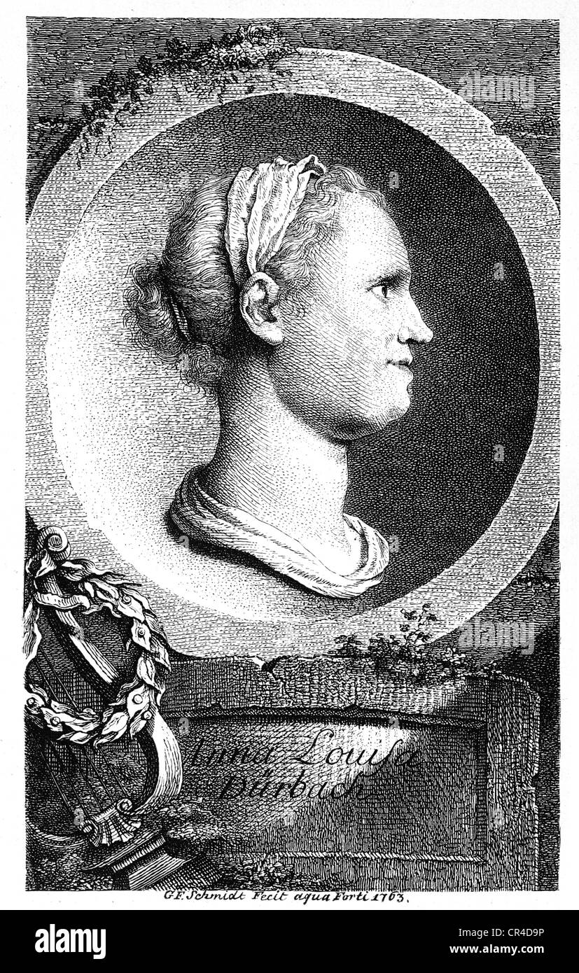 Anna Louisa Karsch, called Karschin (1722-1791), poet - Stock Image