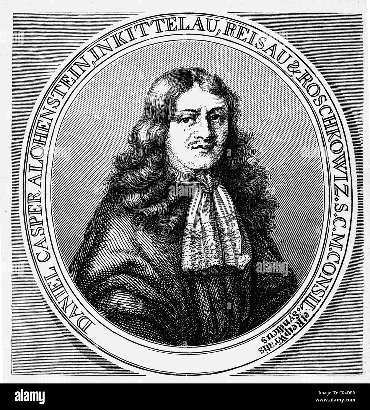 Daniel Casper von Lohenstein (1635-1683), jurist, dioelomat and poet - Stock Image