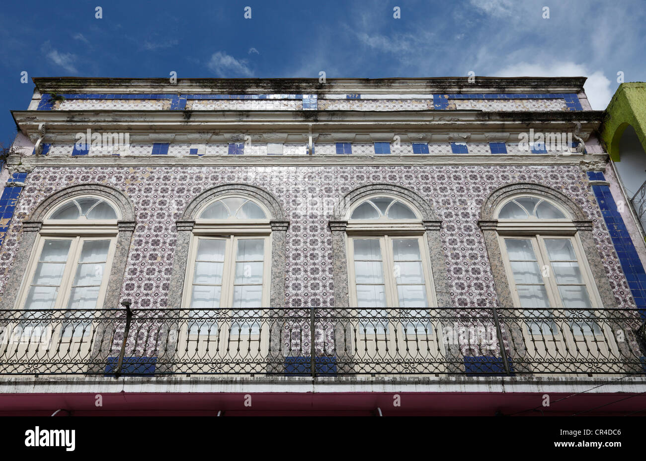 Historic building, facade with azulejos ceramic tiles, old town of ...