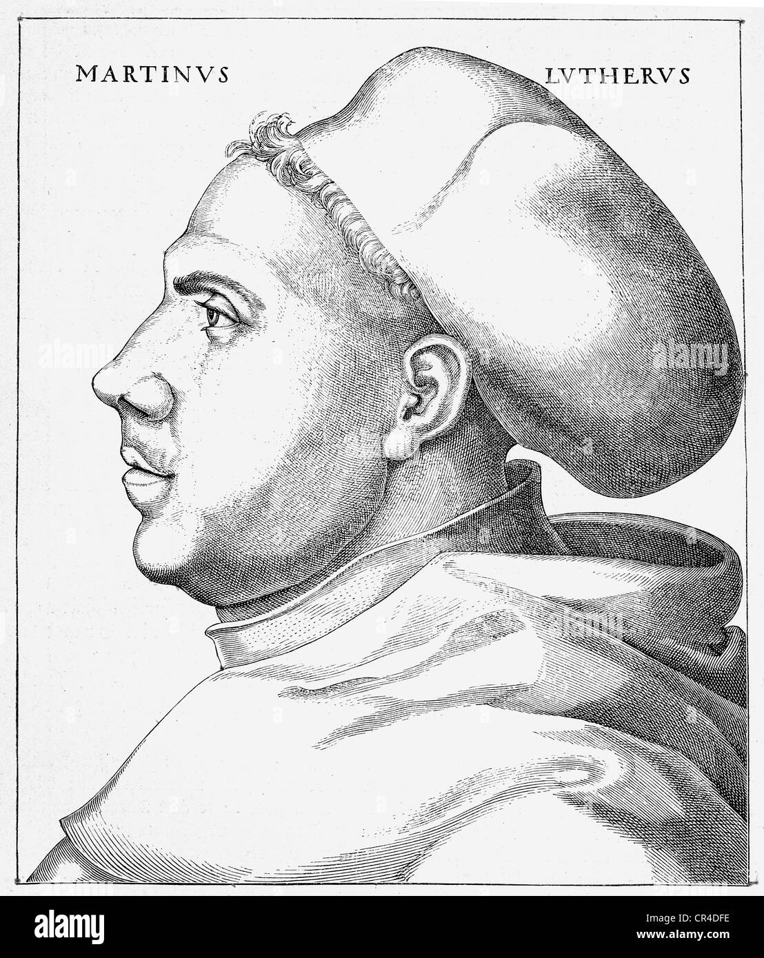 Martin Luther (1483-1546), 38 years old, in habit - Stock Image
