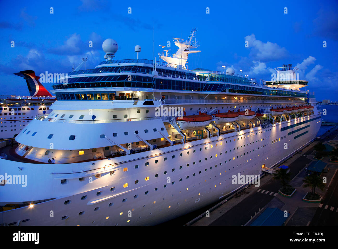 Bahamas, New Providence, Nassau, cruise ships during a stop over - Stock Image