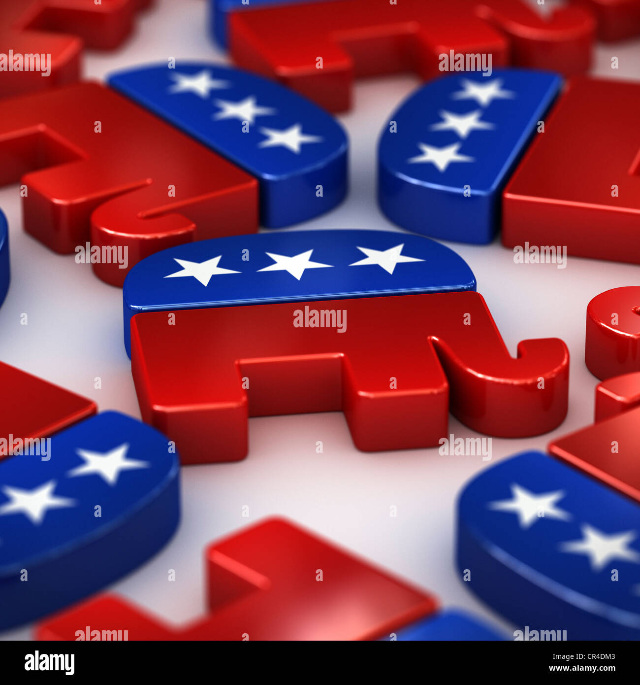 Democratic And Republican Symbols Stock Photos Democratic And