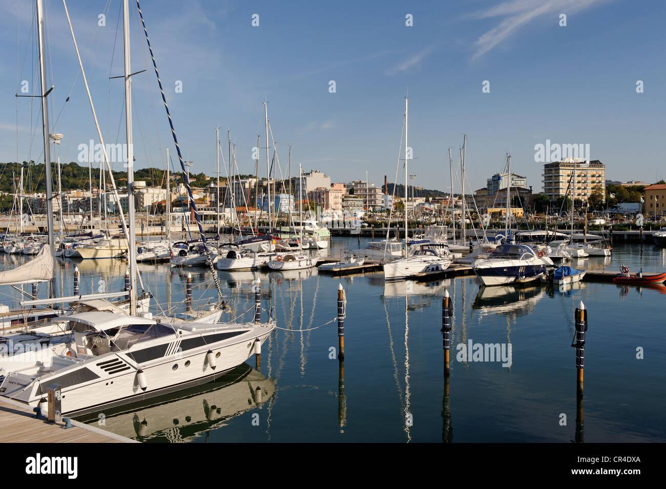Marina, Cattolica, Province of Rimini, Emilia-Romagna, Adriatic coast, Italy, Europe - Stock Image