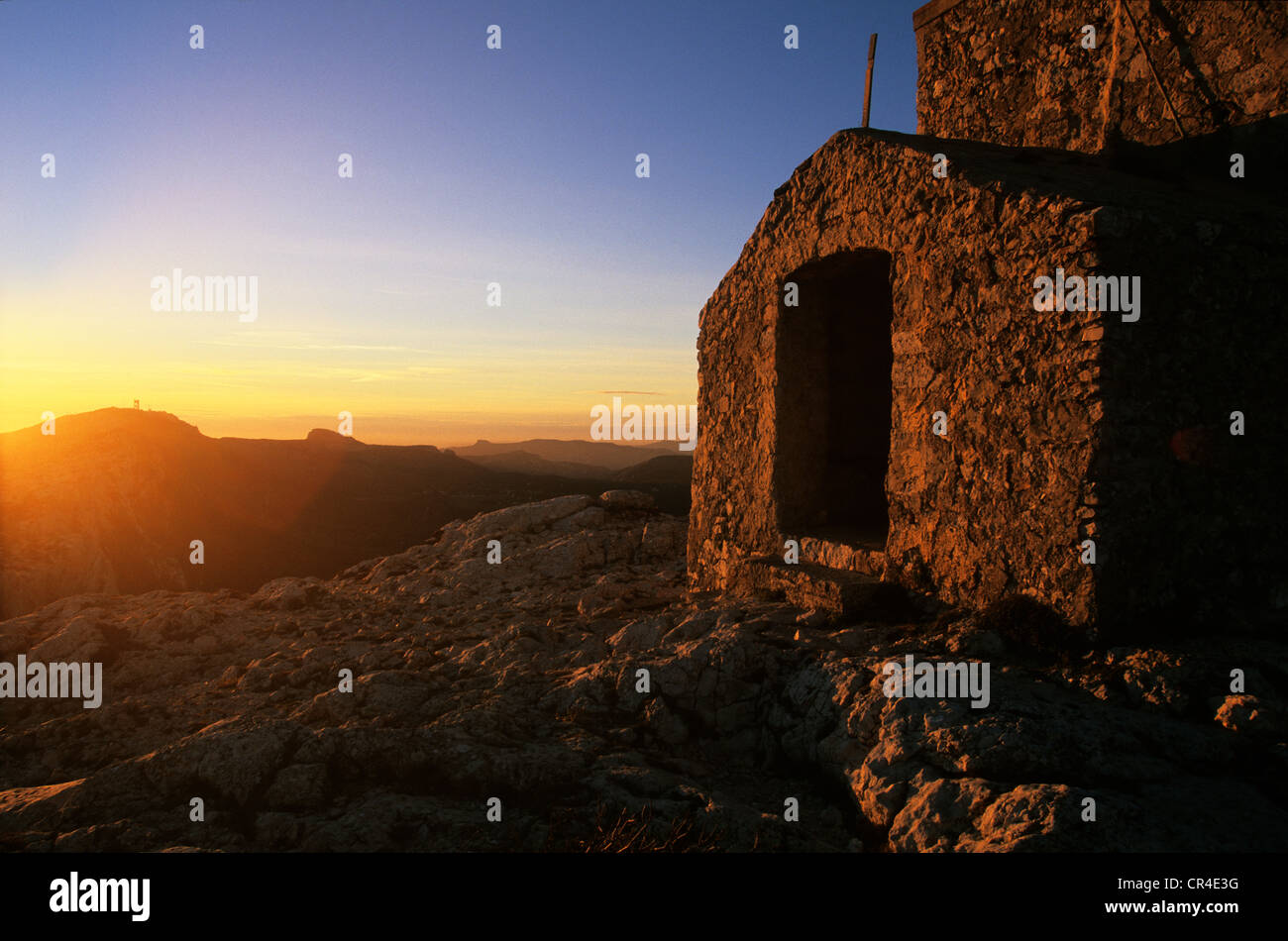 France, Var, the Sainte Baume, St Pilon chapel - Stock Image