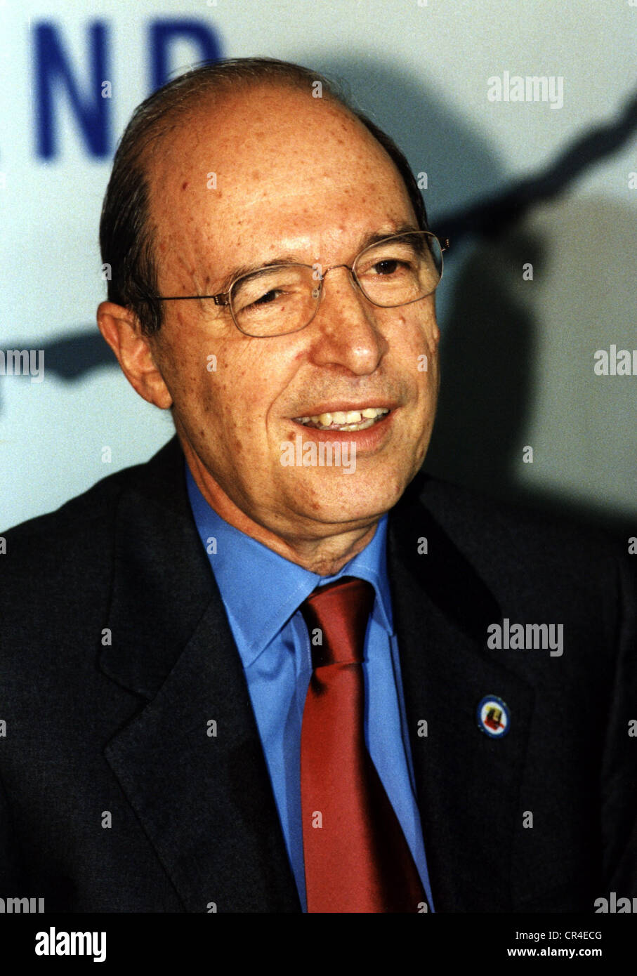 Simitis, Konstantinos, 23.6.1936, Greek politician, portrait, as Prime Minister of Greece, 2000, Additional-Rights - Stock Image