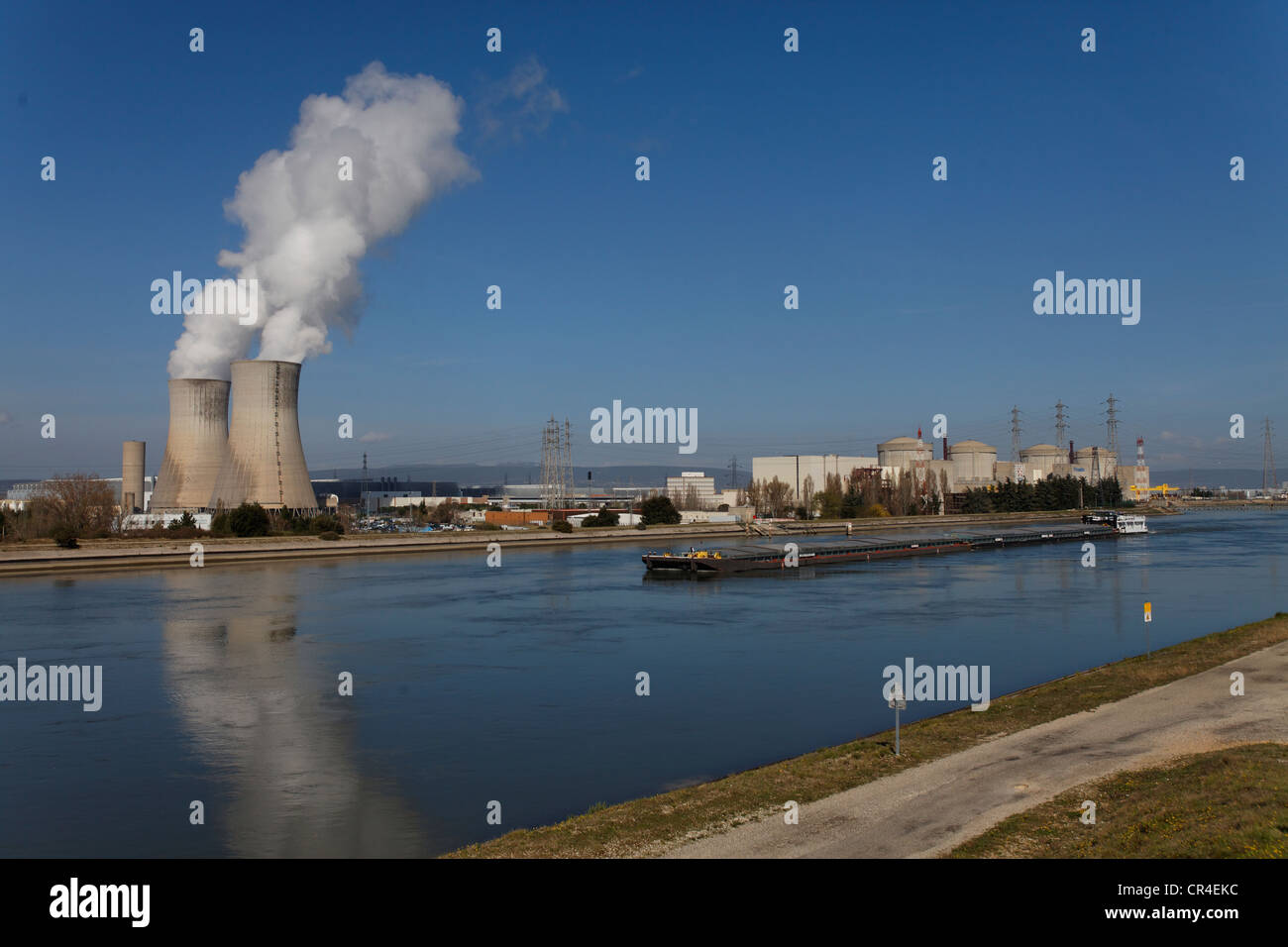 St Paul Trois Chateaux, Tricastin industrial and nuclear site, Bollene industrial site, Drome, France, Europe - Stock Image