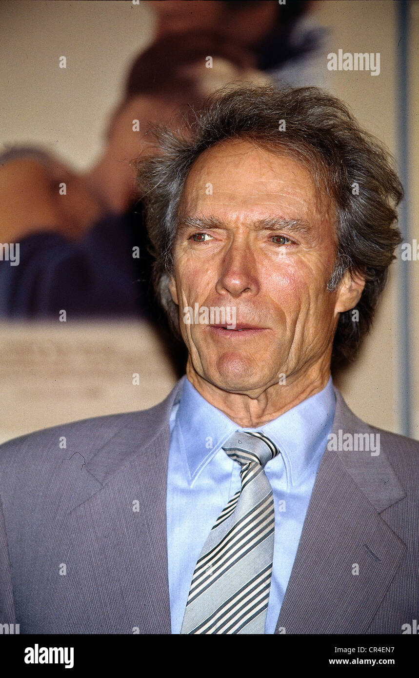 Eastwood, Clint, * 31.5.1930, US actor, portrait, during a press conference in Hamburg, Germany, 13.9.1995, Additional - Stock Image