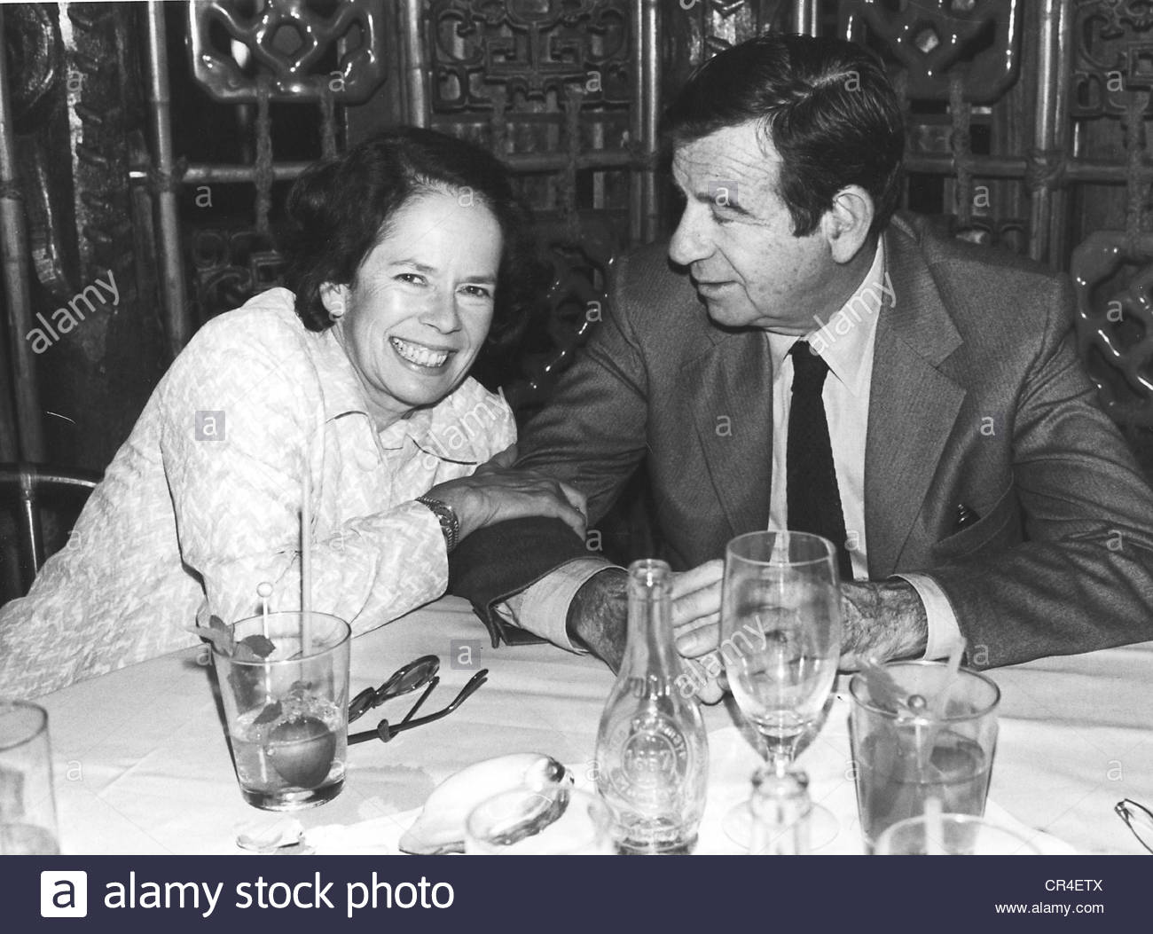 Matthau, Walter, 1.10.1920 - 1.7.2000, US actor, half length, with Oona Chaplin, 1979, Additional-Rights-Clearances - Stock Image