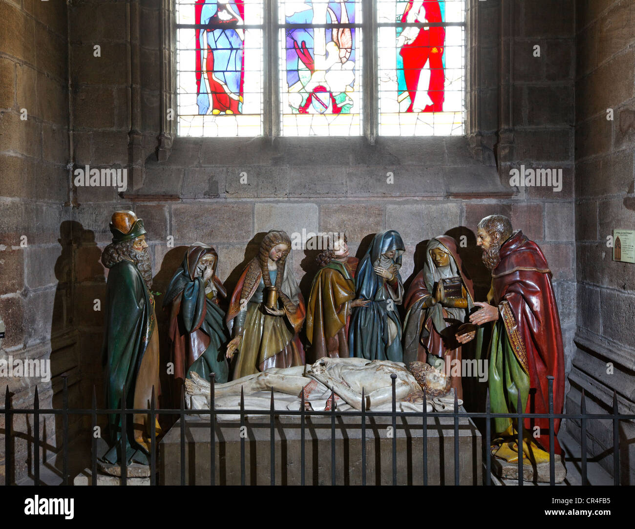 The Entombment of Christ in the Cathedral of Moulins, Allier, Auvergne, France, Europe - Stock Image