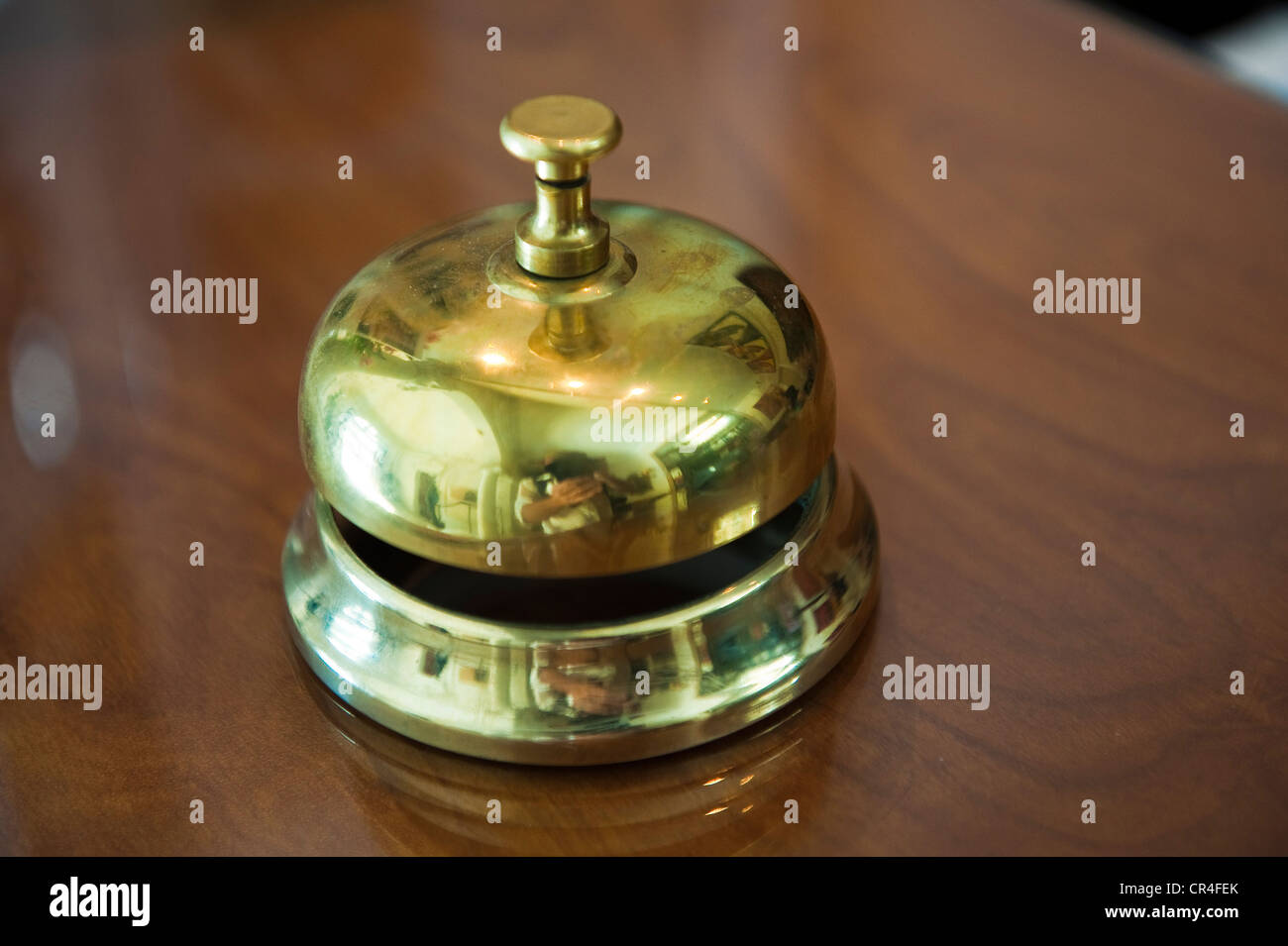 France, Herault, Sete, Grand Hotel, reception bell - Stock Image
