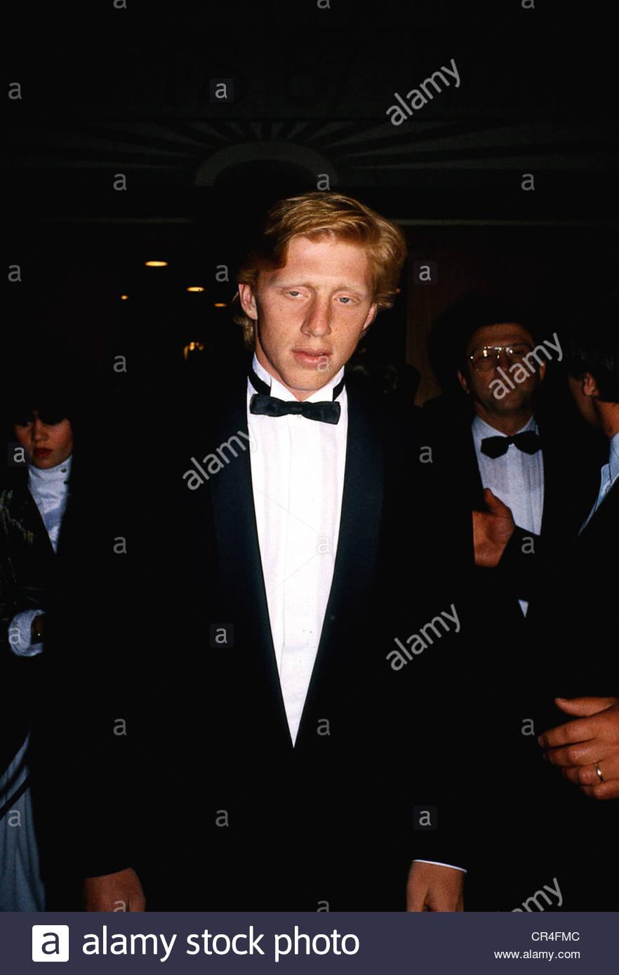 Becker, Boris, * 22.11.1967, German tennis player, half length, at a social event, Munich, early 1980s, dinner jacket, - Stock Image