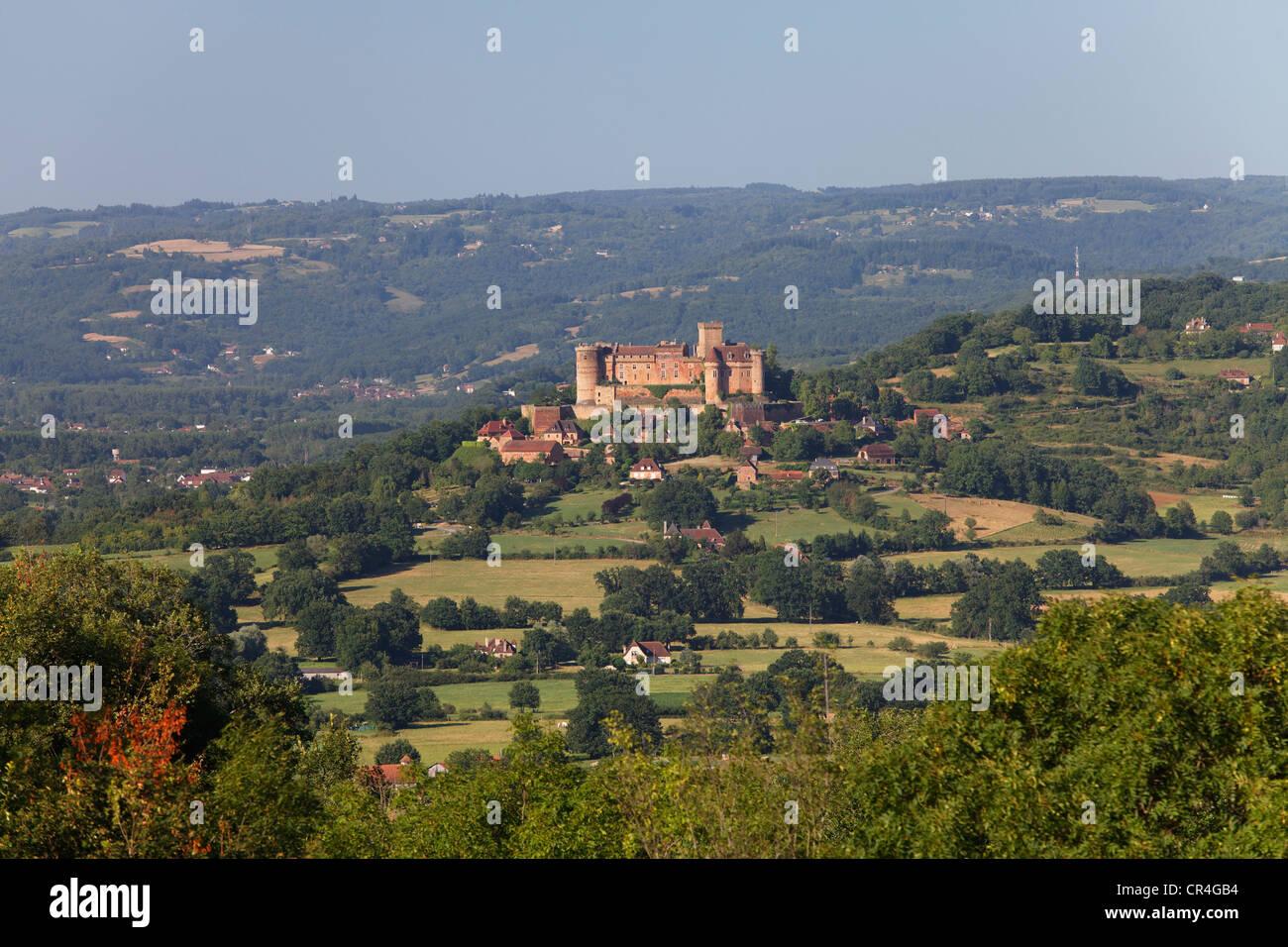 Chateau de Castelnau Bretenoux, Bretenoux, Vallee du Cere valley, Lot, France, Europe - Stock Image