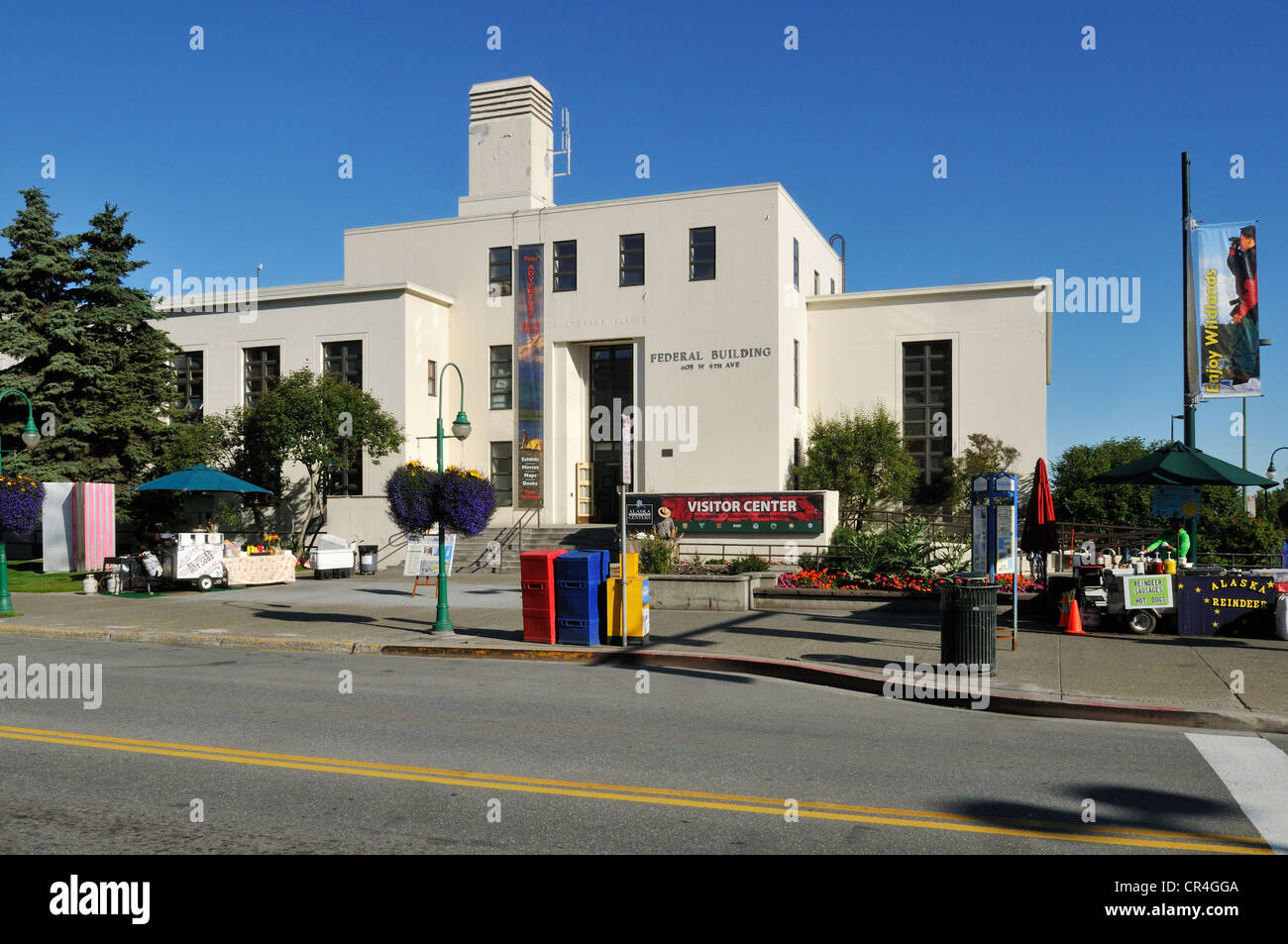 Federal Building at Anchorage, Alaska, USA, North America - Stock Image