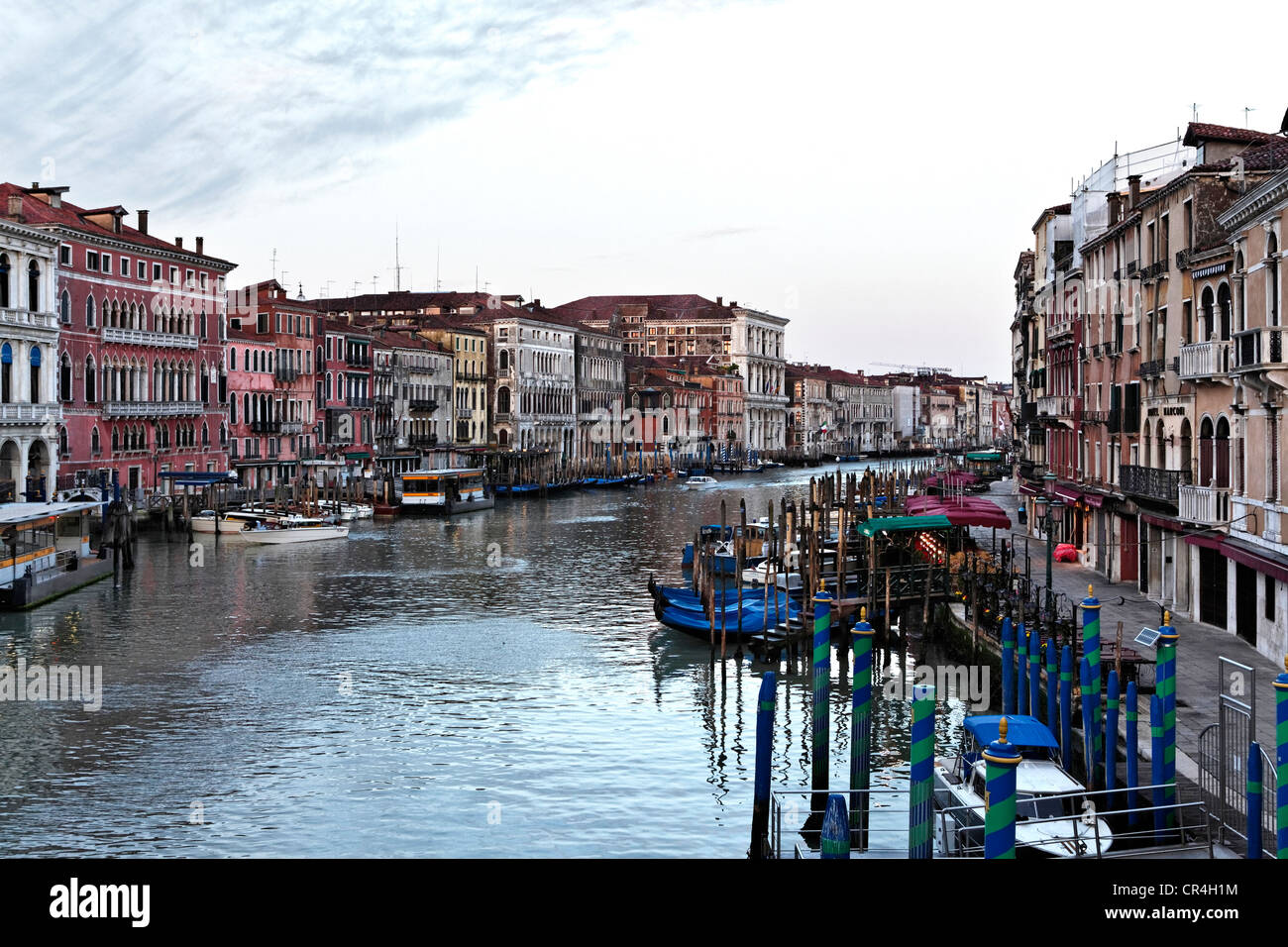 Canal or Canale Grande, San Marco district, Venice, UNESCO World Heritage Site, Venetia, Italy, Europe - Stock Image
