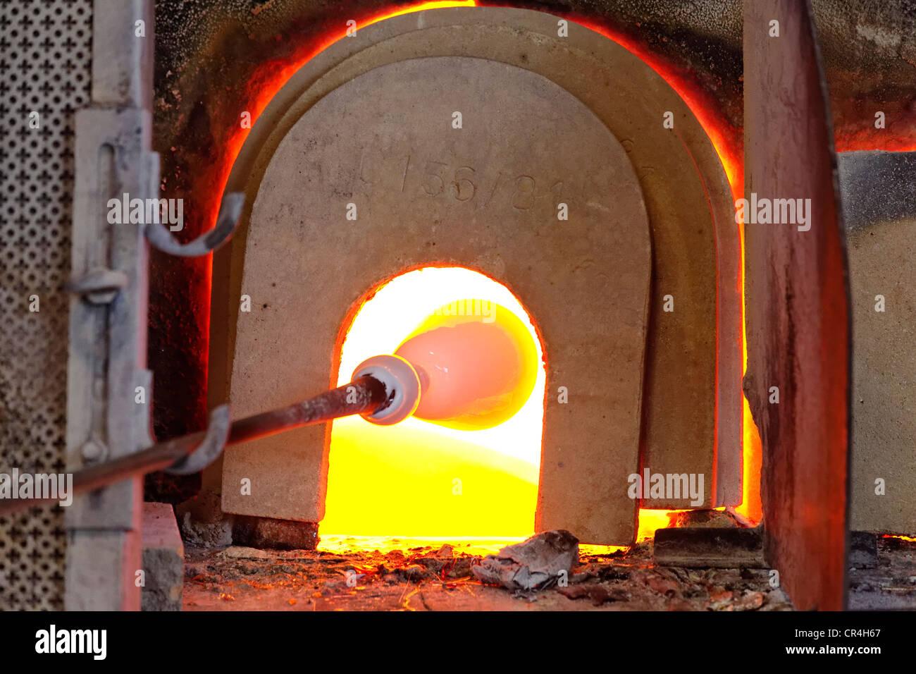 Murano Glass Factory.Art Glass Factory Murano Venice Venetia Italy Europe