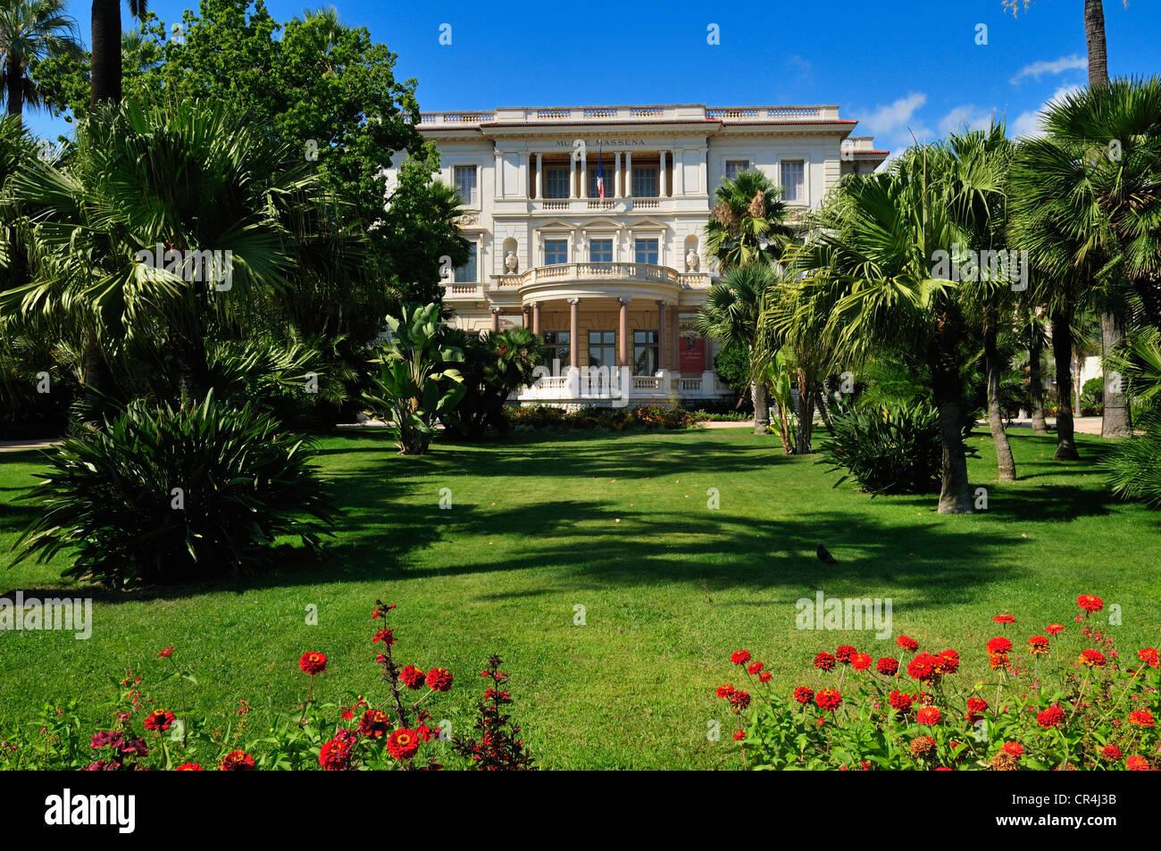 Museum, Musee Massena, Nice, Nizza, Cote d'Azur, Alpes Maritimes, Provence, France, Europe - Stock Image