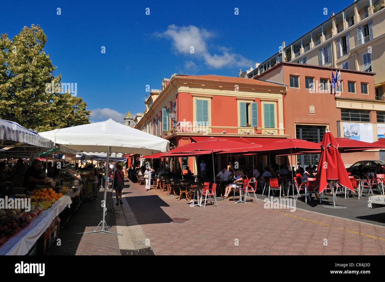 Place Pierre Gautier, Nice, Nizza, Cote d'Azur, Alpes Maritimes, Provence, France, Europe - Stock Image