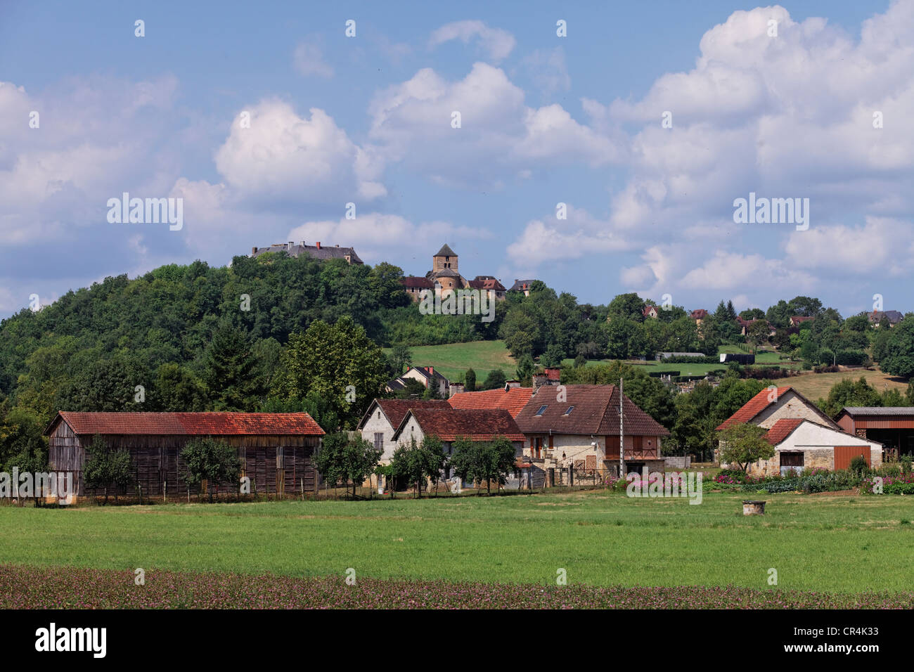 Village of Cavagnac, Quercy, Lot, France, Europe - Stock Image