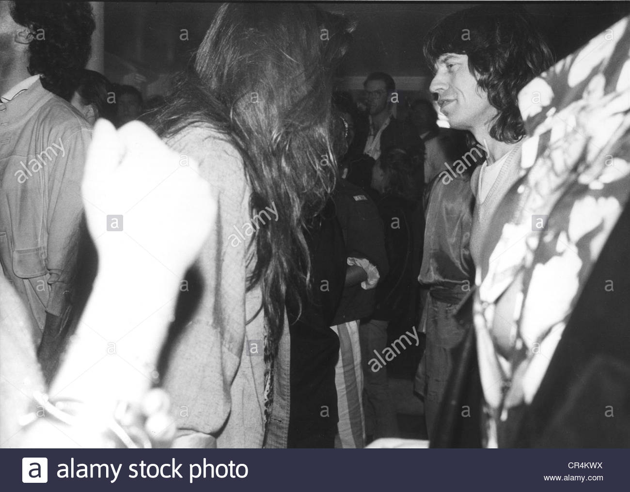 Jagger, Mick, * 18.12.1943, British musician, half length, in the disco 'P1', Munich, Germany, 1986, Additional - Stock Image