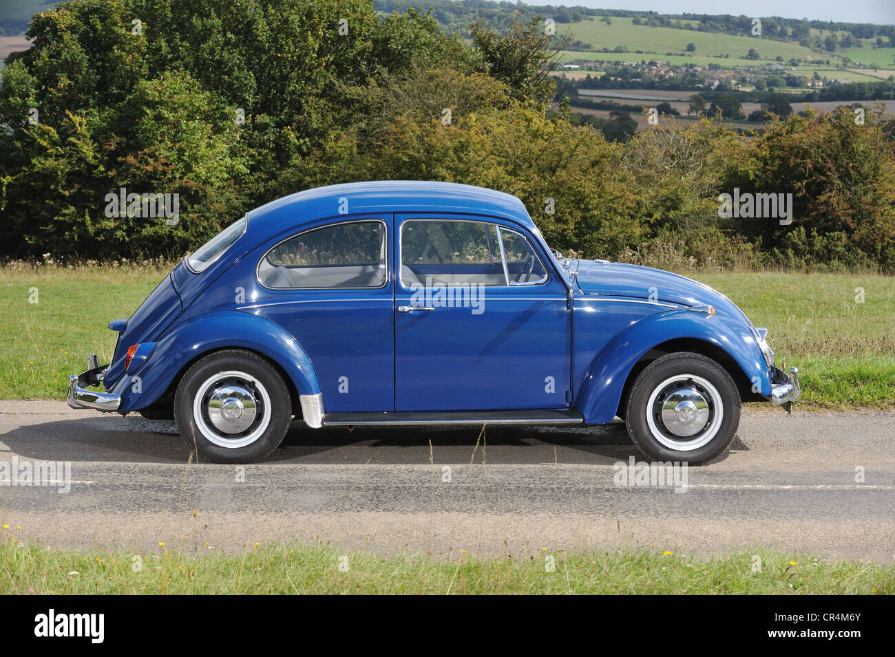 1966 VW Volkswagen Beetle classic stock air cooled bug - Stock Image