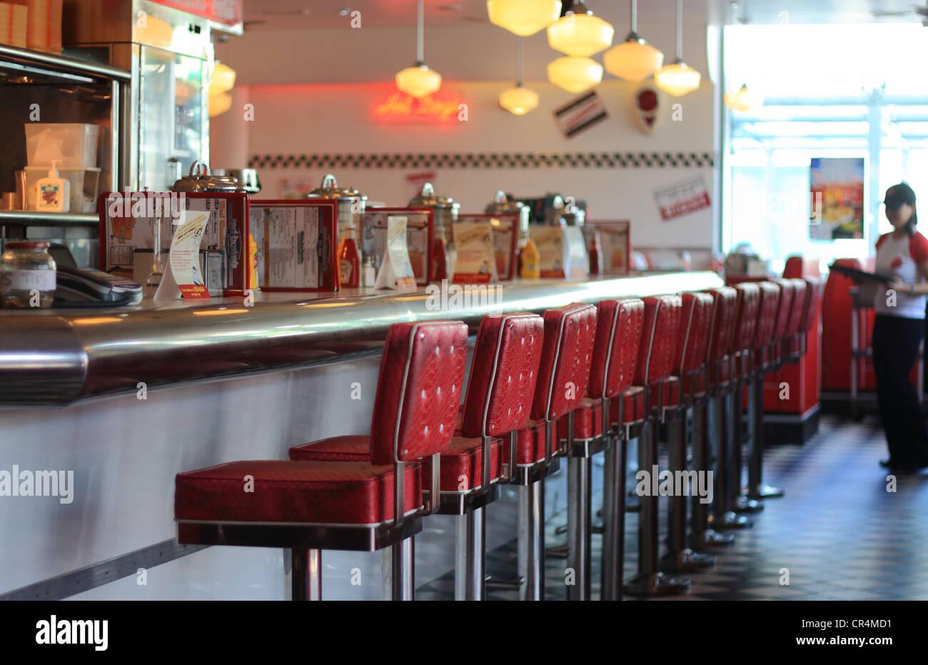 American Diner Waitress Retro Stock Photos Amp American