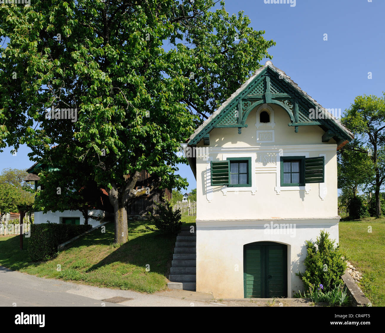 Wine Groweru0027s House On Csaterberg Mountain, Kohfidisch, Burgenland,  Austria, Europe   Stock