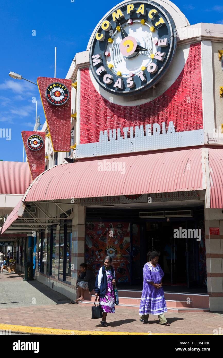 France, Nouvelle Caledonie, Noumea, city center, shop - Stock Image