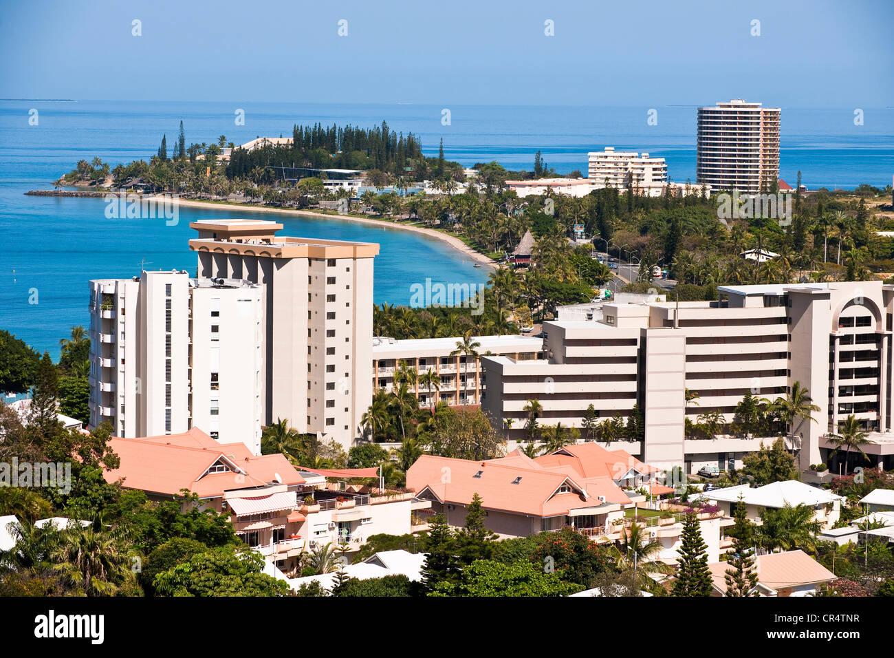 France, Nouvelle Caledonie, Noumea, Anse Vata District - Stock Image
