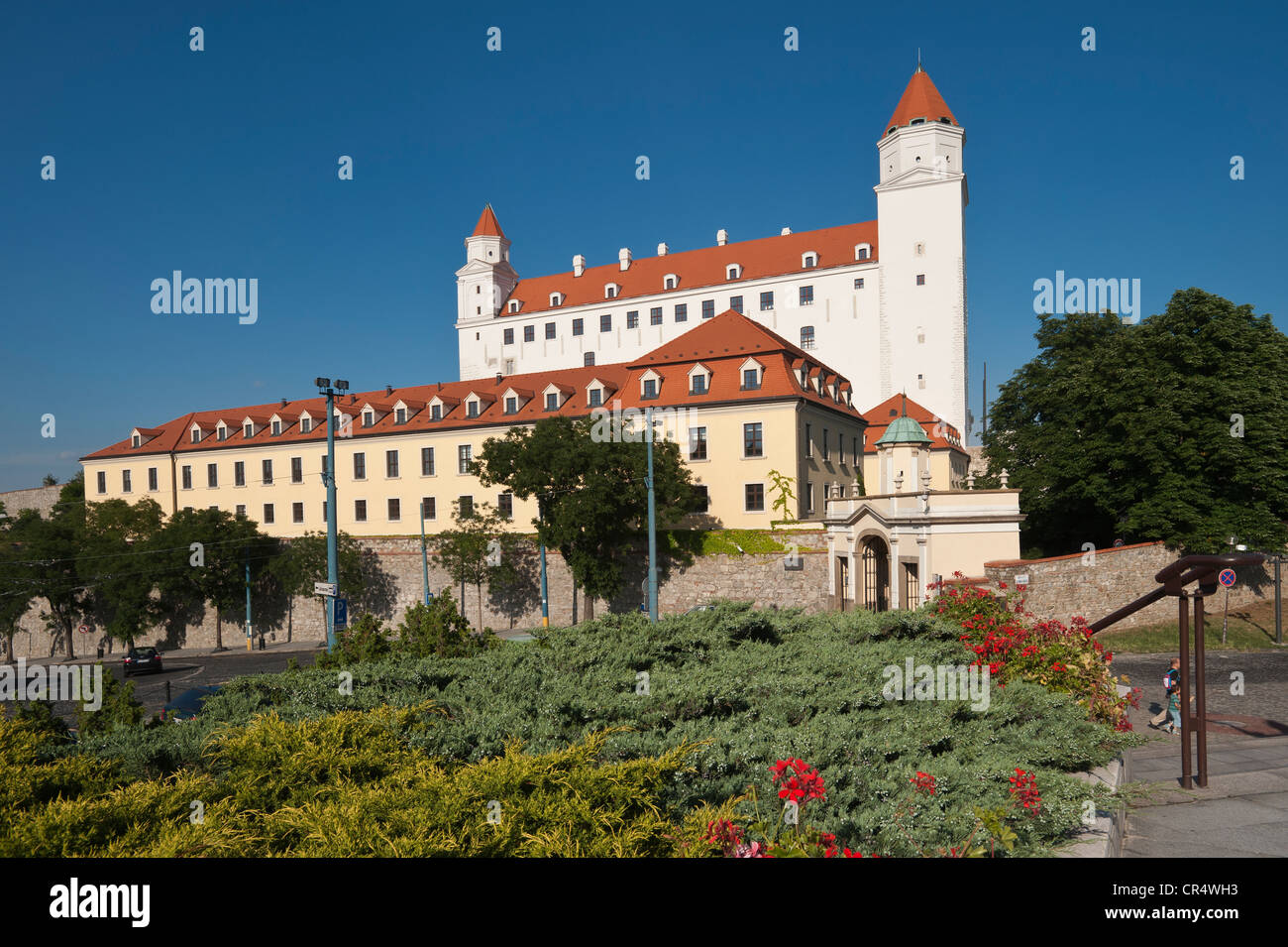 Bratislava Castle, Bratislava, Slovakia, Europe, PublicGround - Stock Image
