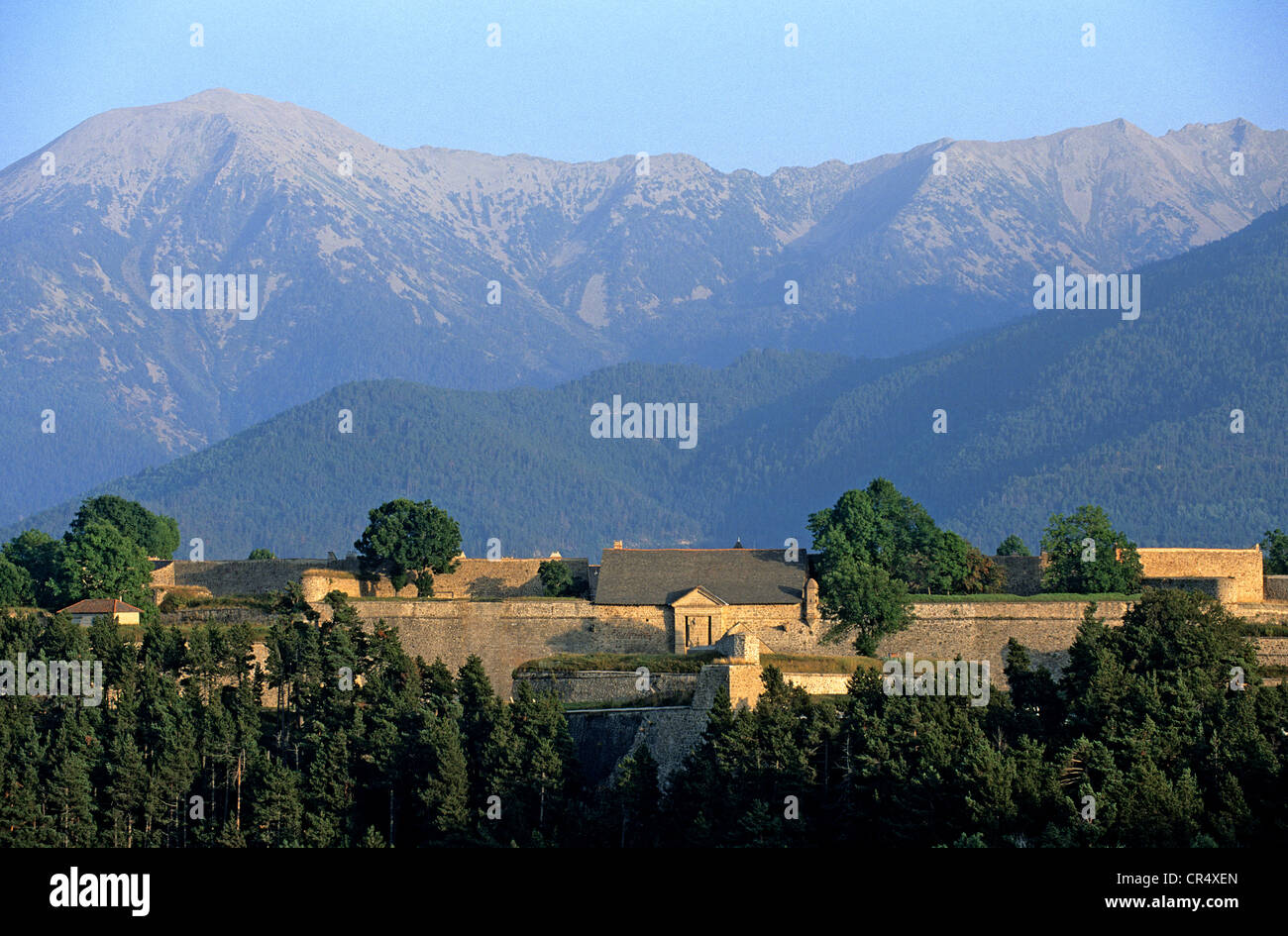 France, Pyrenees Orientales, Mont Louis, fortified town in Capcir, the citadel - Stock Image