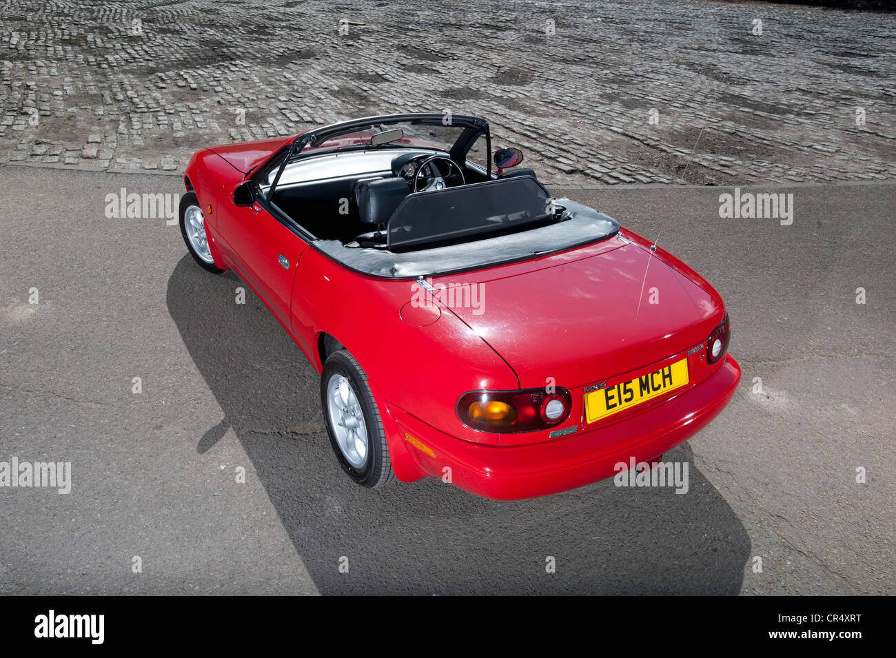 Mazda MX5 - possibly the perfect sports car? Front engine rear wheel and affordable - Stock Image