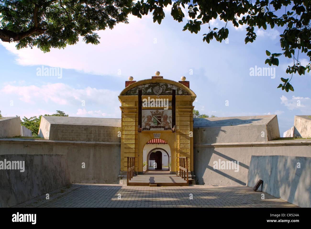 Star Fort, built by the Dutch in the 18th century, Matara, Sri Lanka - Stock Image