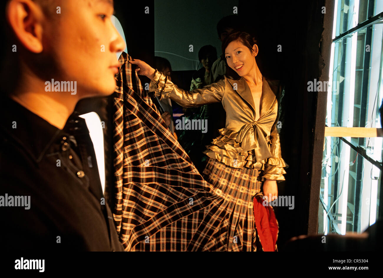 China, Shanghai, Lu Kun, fashion designer, Nokia fashion parade - Stock Image