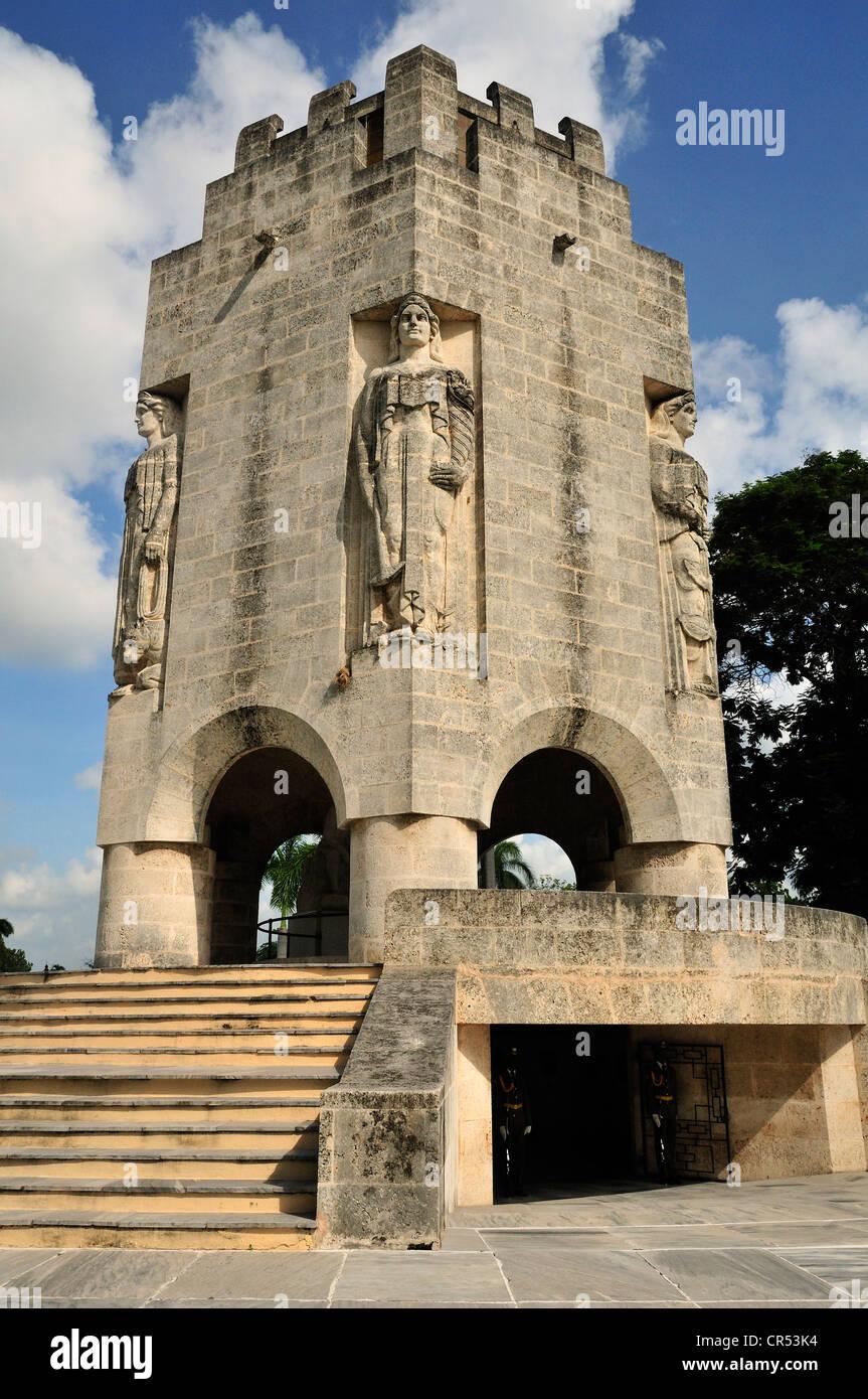 Mausoleum of the poet and Cuban national hero José Martí, Cementerio de Santa Ifigenia cemetary, Santiago - Stock Image