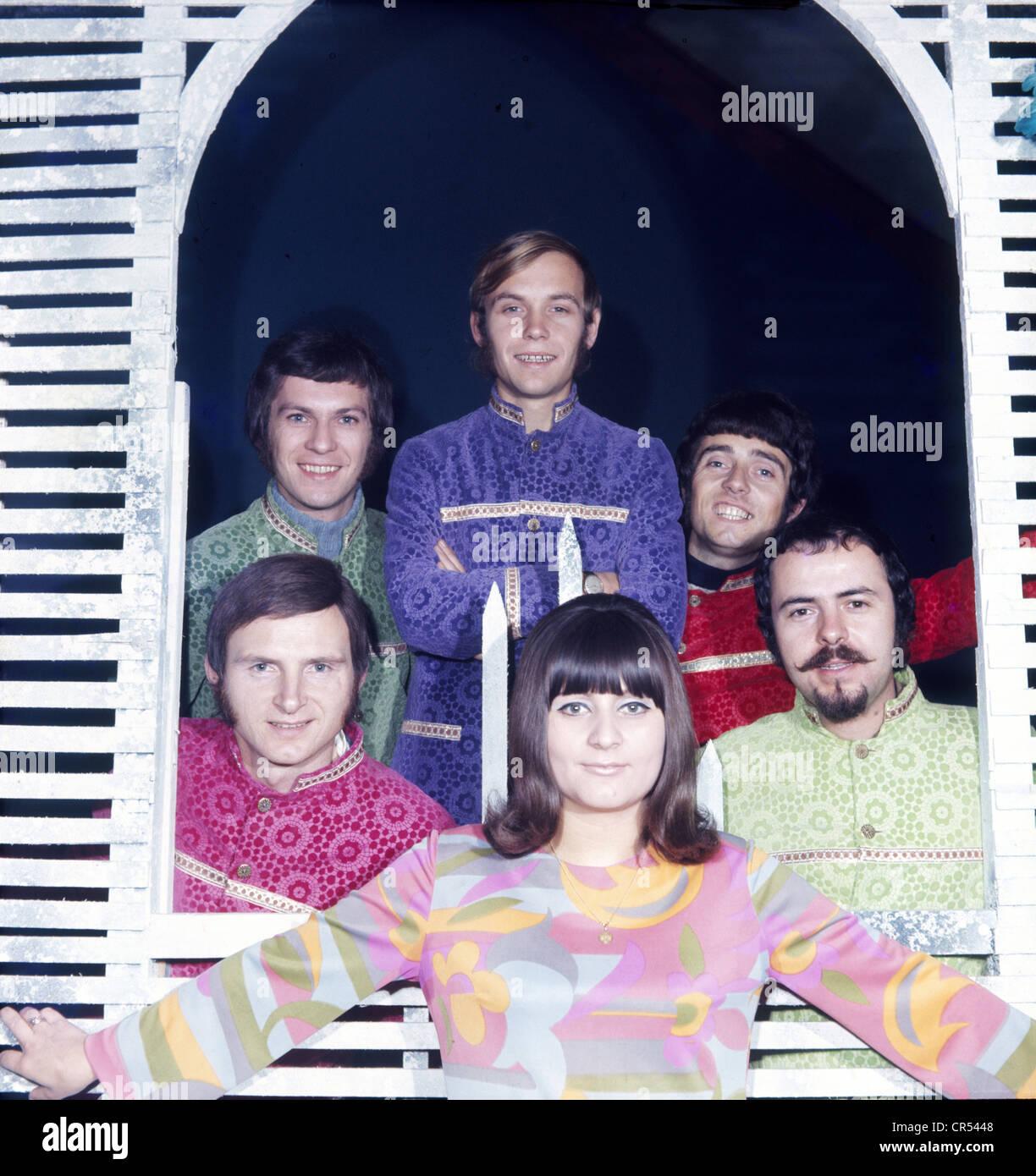 Fleming, Joy, * 15.11.1944, German singer, group Joy and The Hit Kids, with Dieter Kindl, Gerd Koethe, Hans Herkenne, - Stock Image
