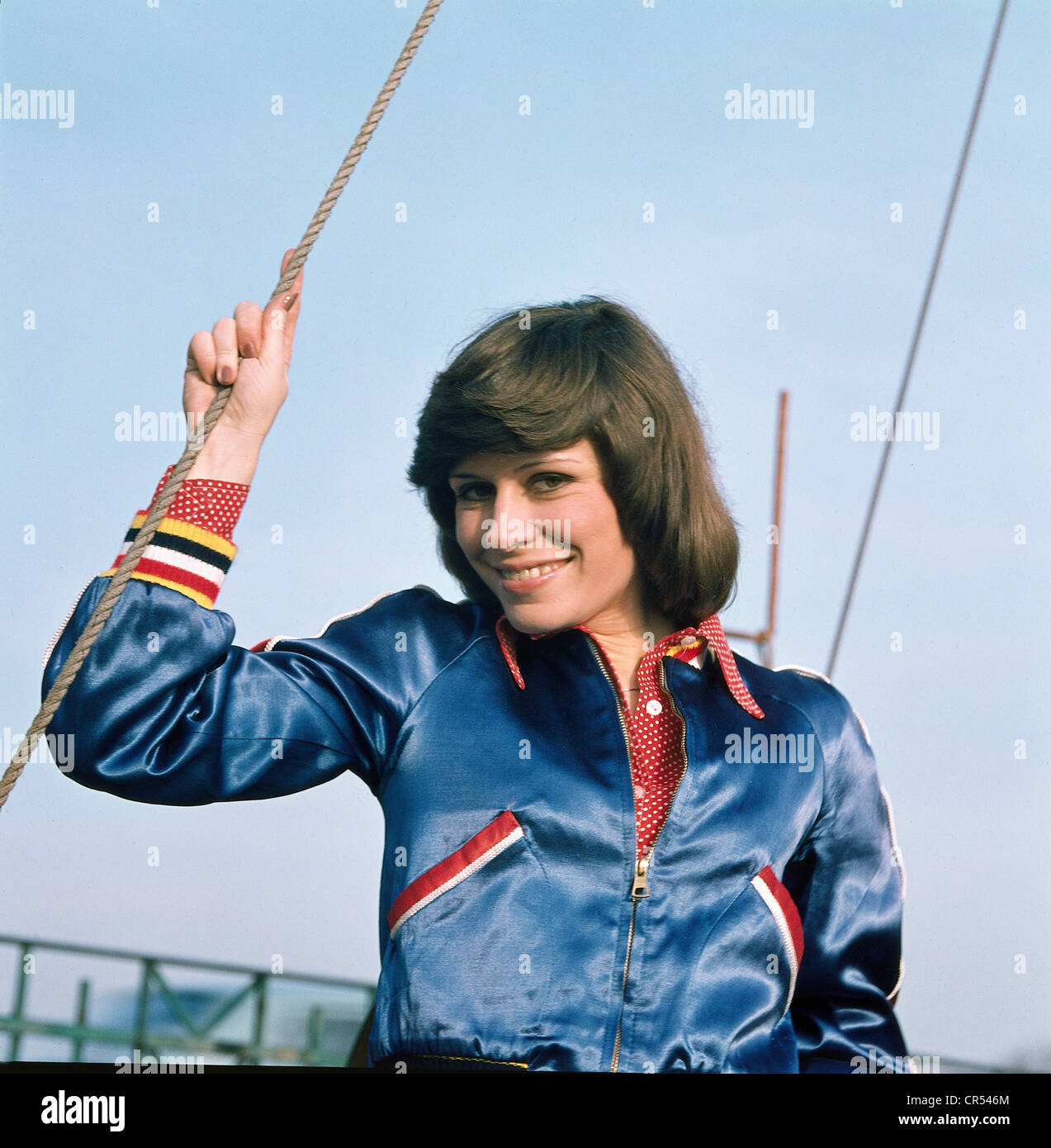Roos Mary, * 9.1.1949, German singer,  1970s, , Stock Photo