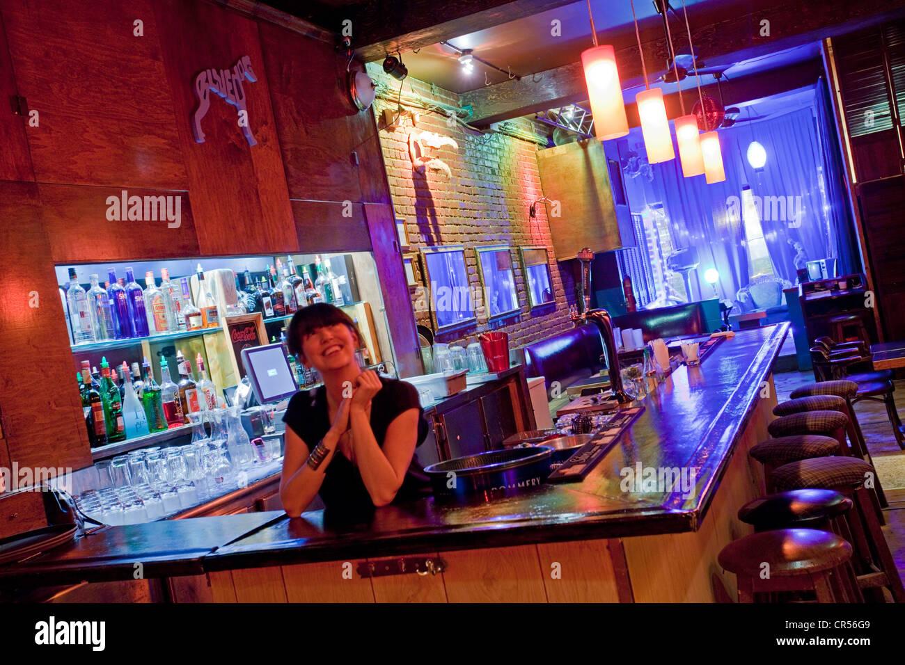Canada, Quebec Province, Montreal, Boulevard Saint Laurent, Blue Dog Lounge bar and nightclub - Stock Image
