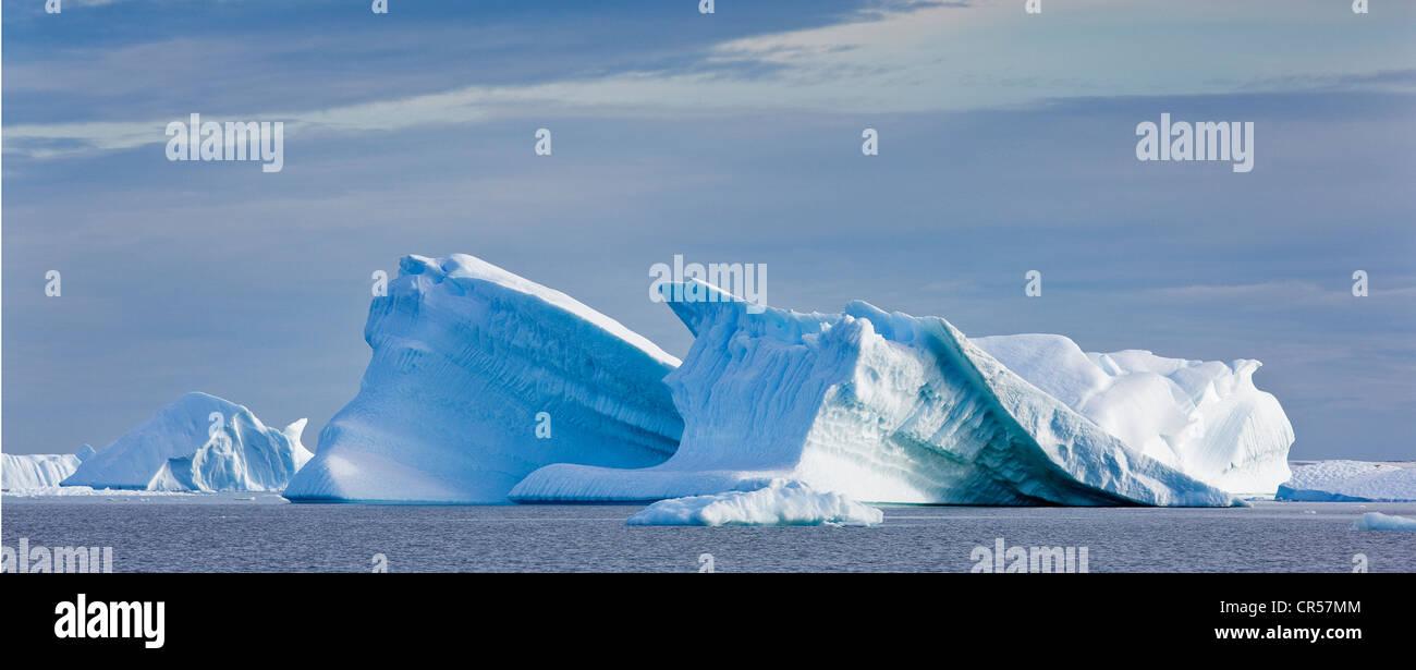 Icebergs, Antarctic Region, Antarctica - Stock Image