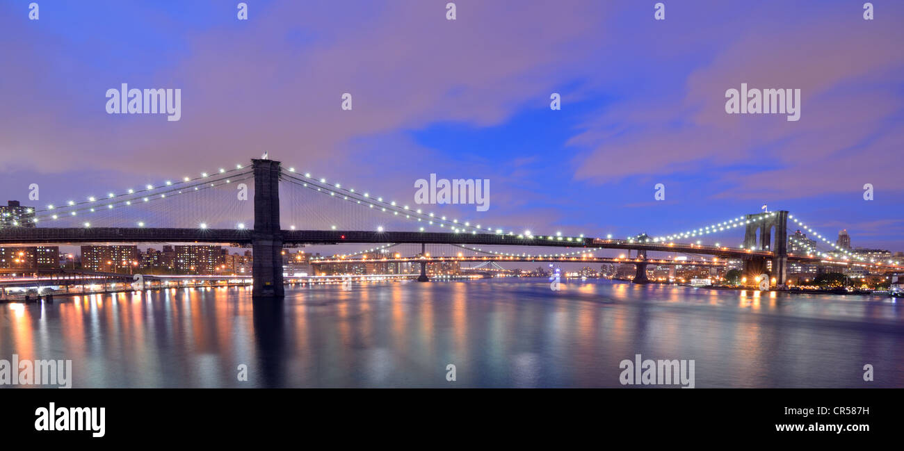 Skyline of Brooklyn in New York City - Stock Image